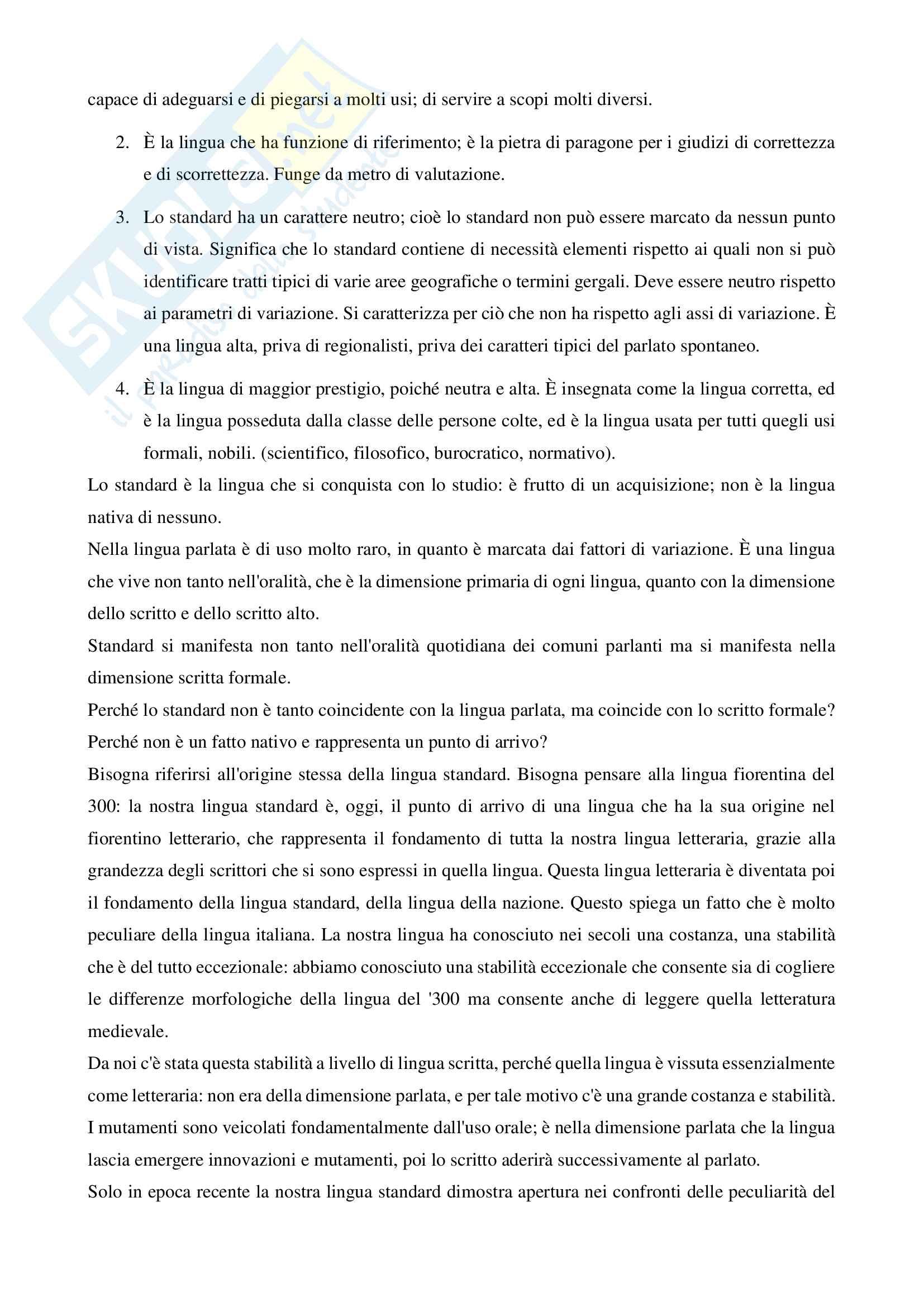 Riassunto esame Linguistica Italiana, prof. Mancini Pag. 41