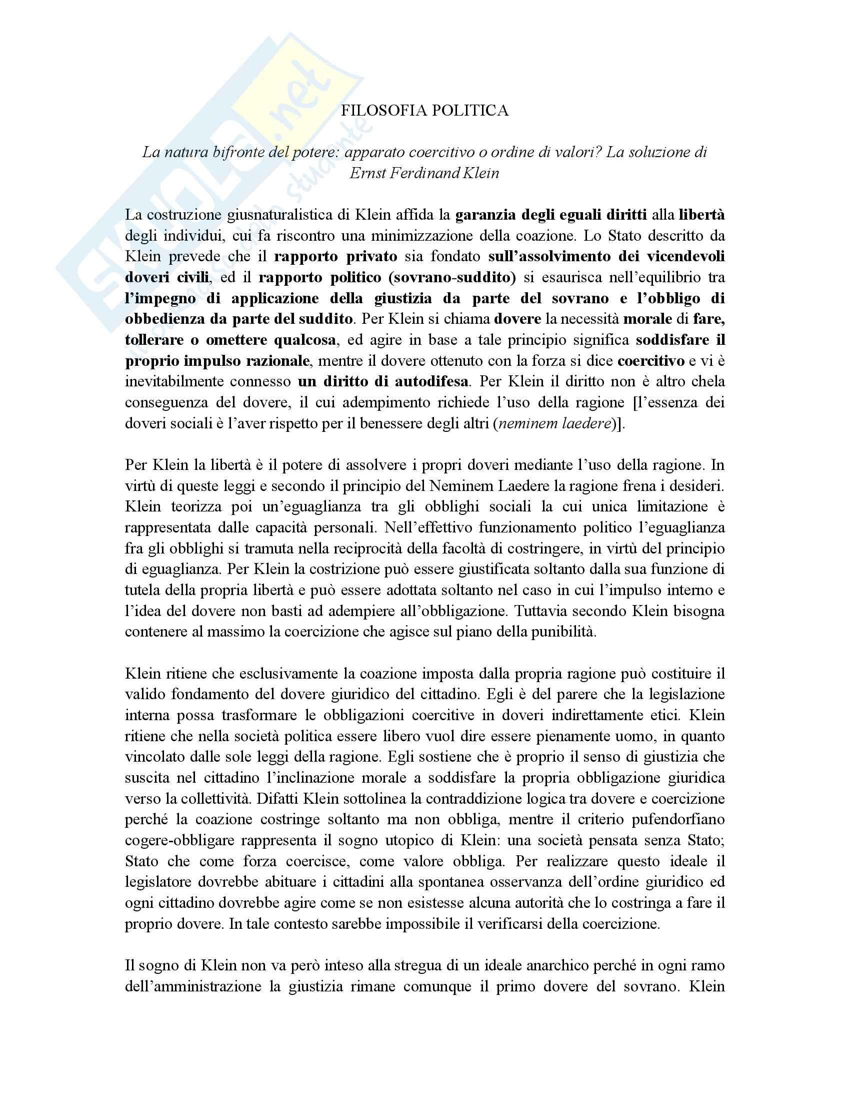 Pufendorf e autolimitazione razionale - Filosofia politica