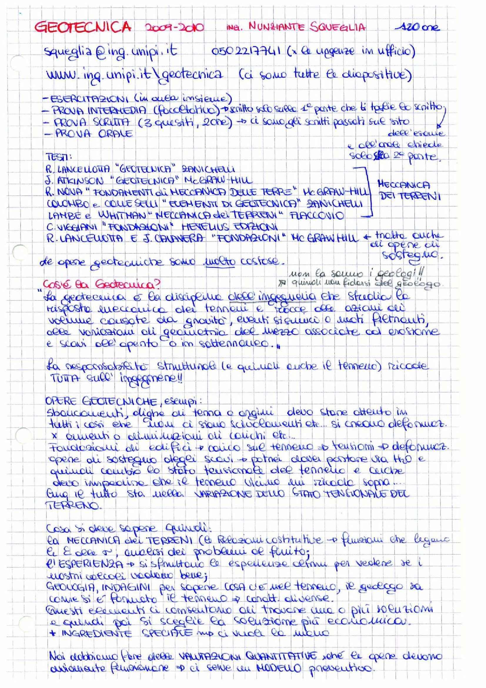 Geotecnica- Appunti