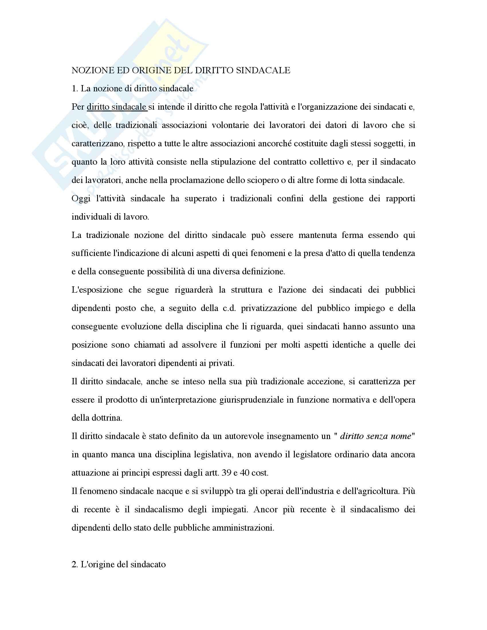 Riassunto esame Diritto del Lavoro, prof. Liebman, libro consigliato Contratto e Rapporto di Lavoro, Persiani, Proia