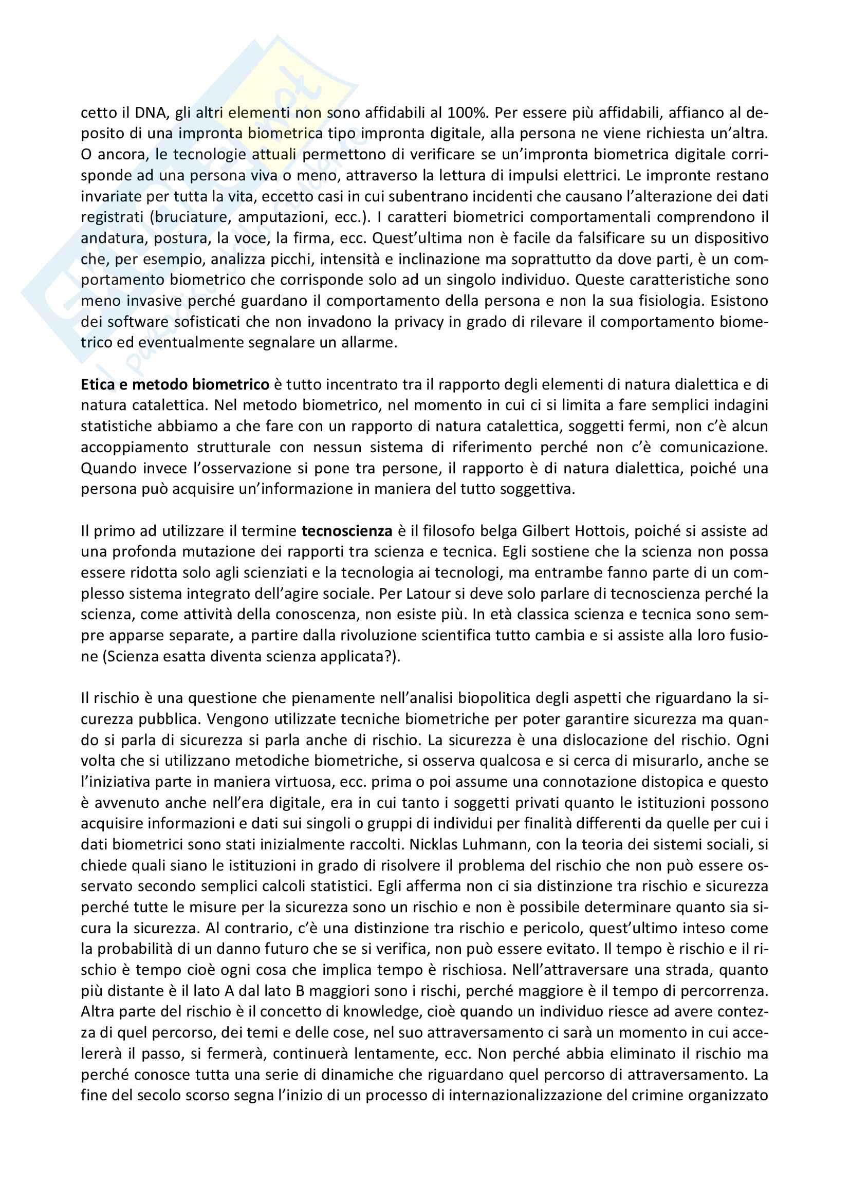 Riassunto esame Filosofia Politica, prof. Preite, libro consigliato Politica e Biometria, Gianpasquale Preite Pag. 6