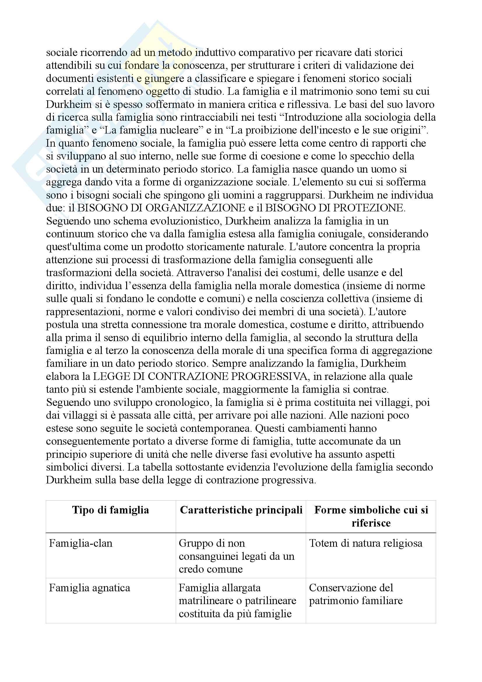 Riassunto esame sociologia della famiglia, prof.ssa. Censi, libro consigliato Famiglia e sociologia, Censi Pag. 11