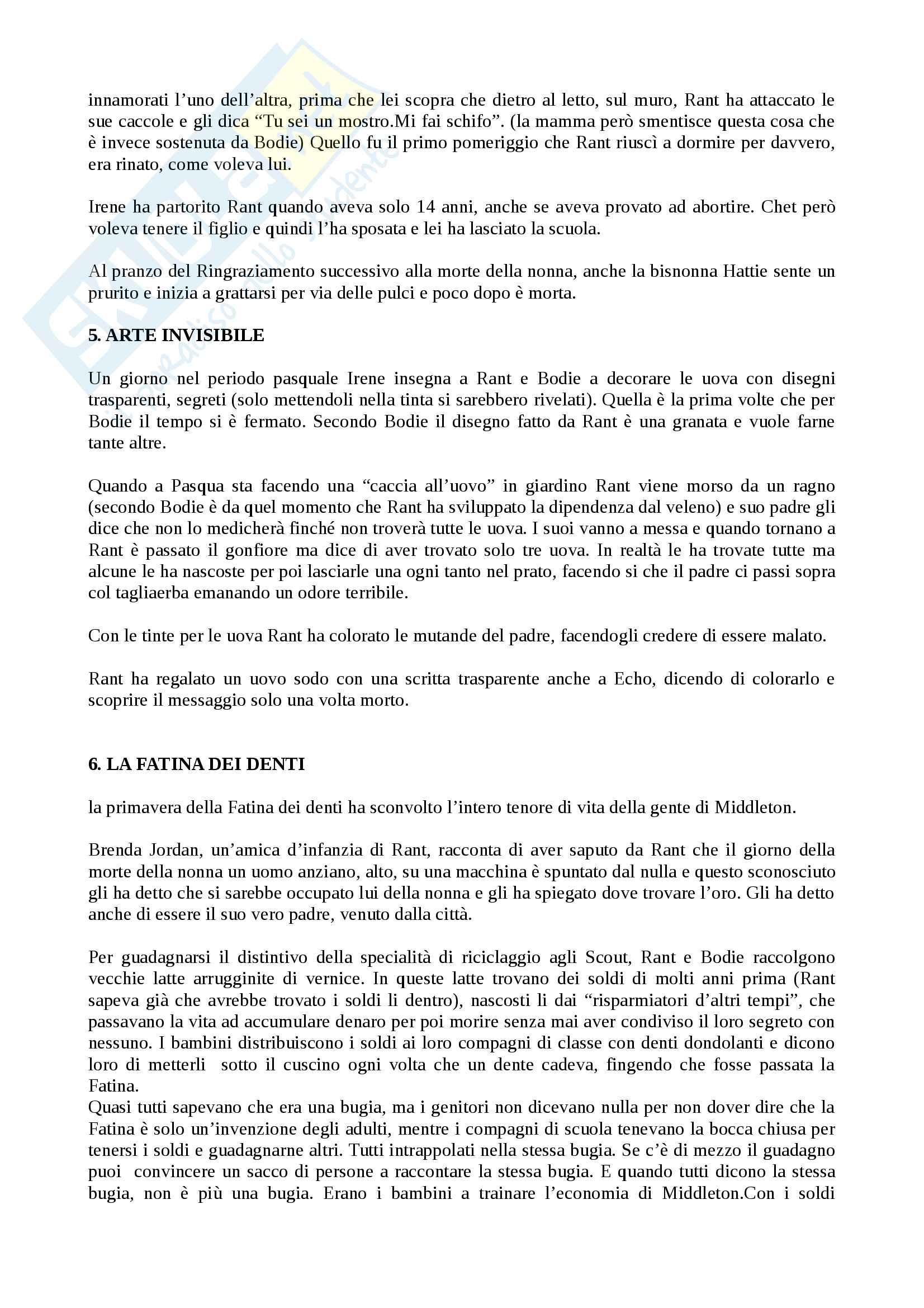 Riassunto esame Letterature comparate, prof. Vittorini, libro consigliato Rabbia di Chuck Palahniuk Pag. 2