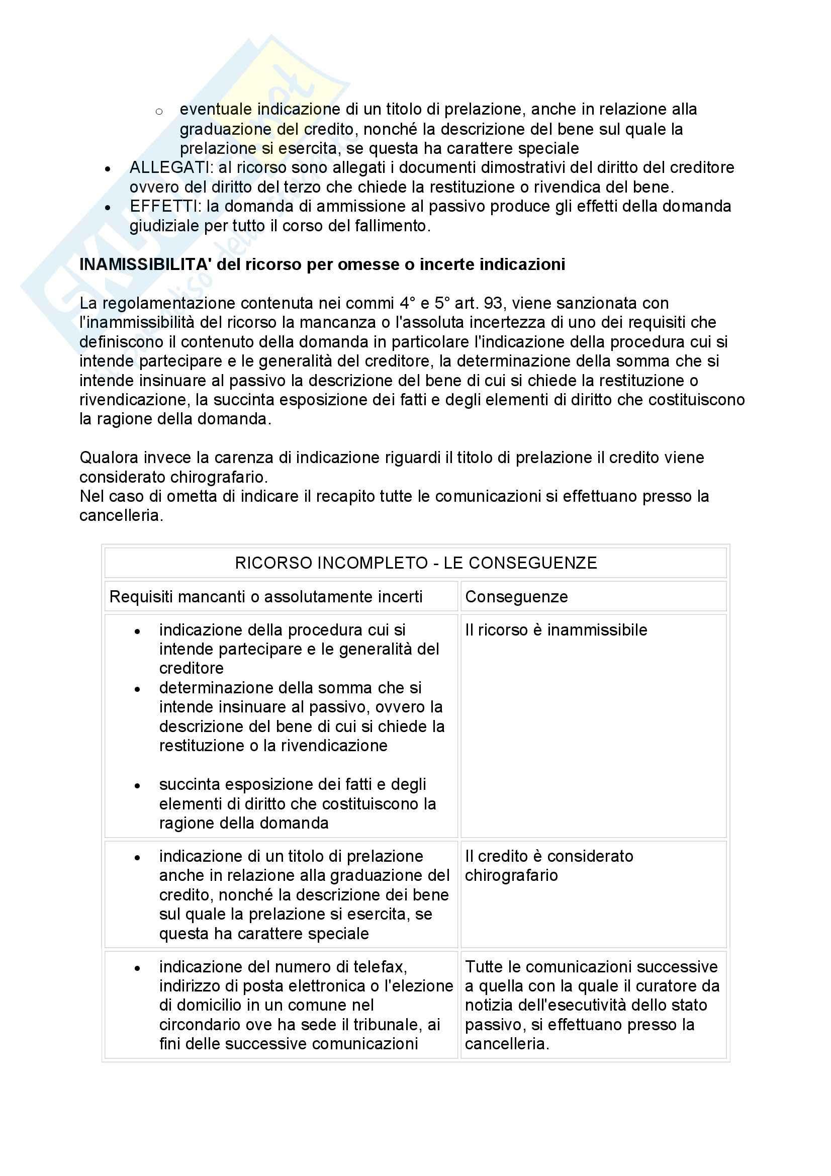 Diritto fallimentare - Appunti Pag. 61