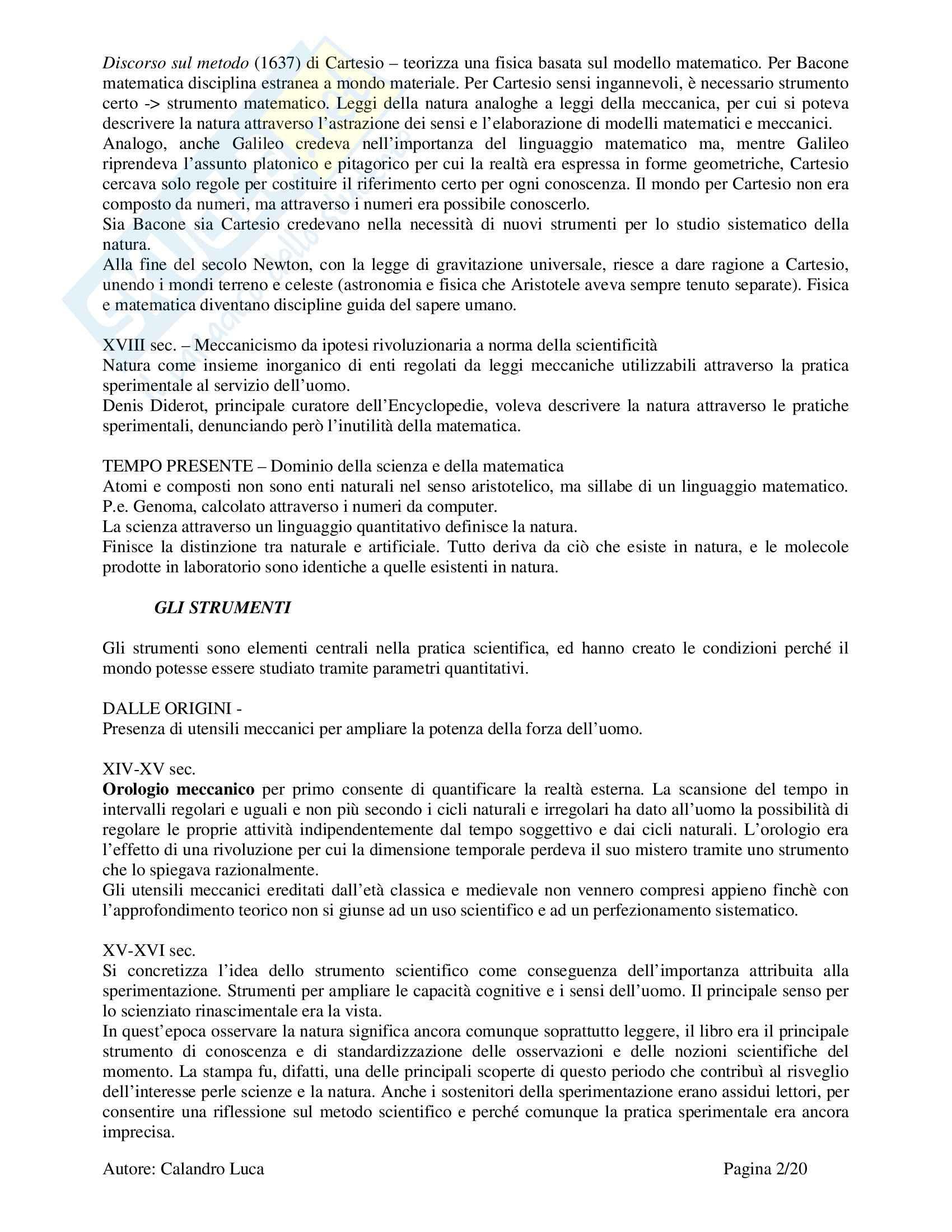 Storia materiale della Scienza - Beretta Pag. 2