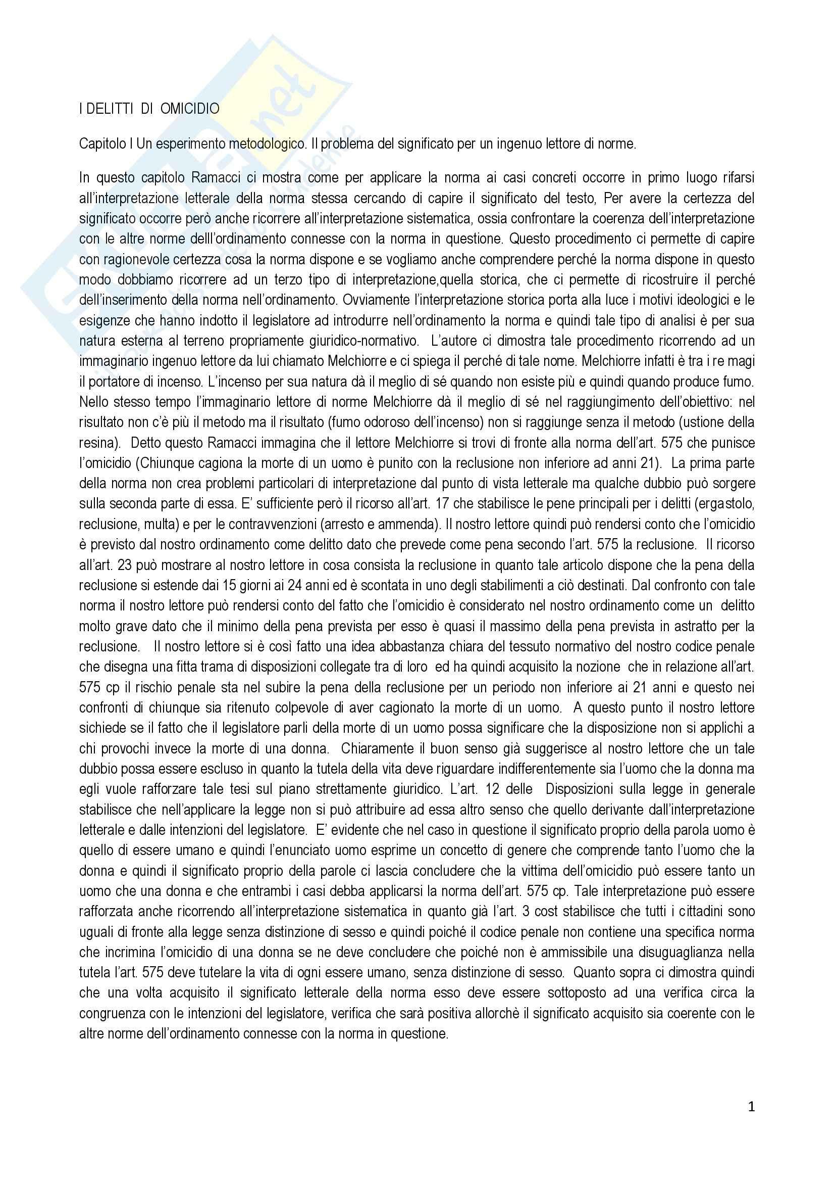 appunto F. Ramacci Diritto penale