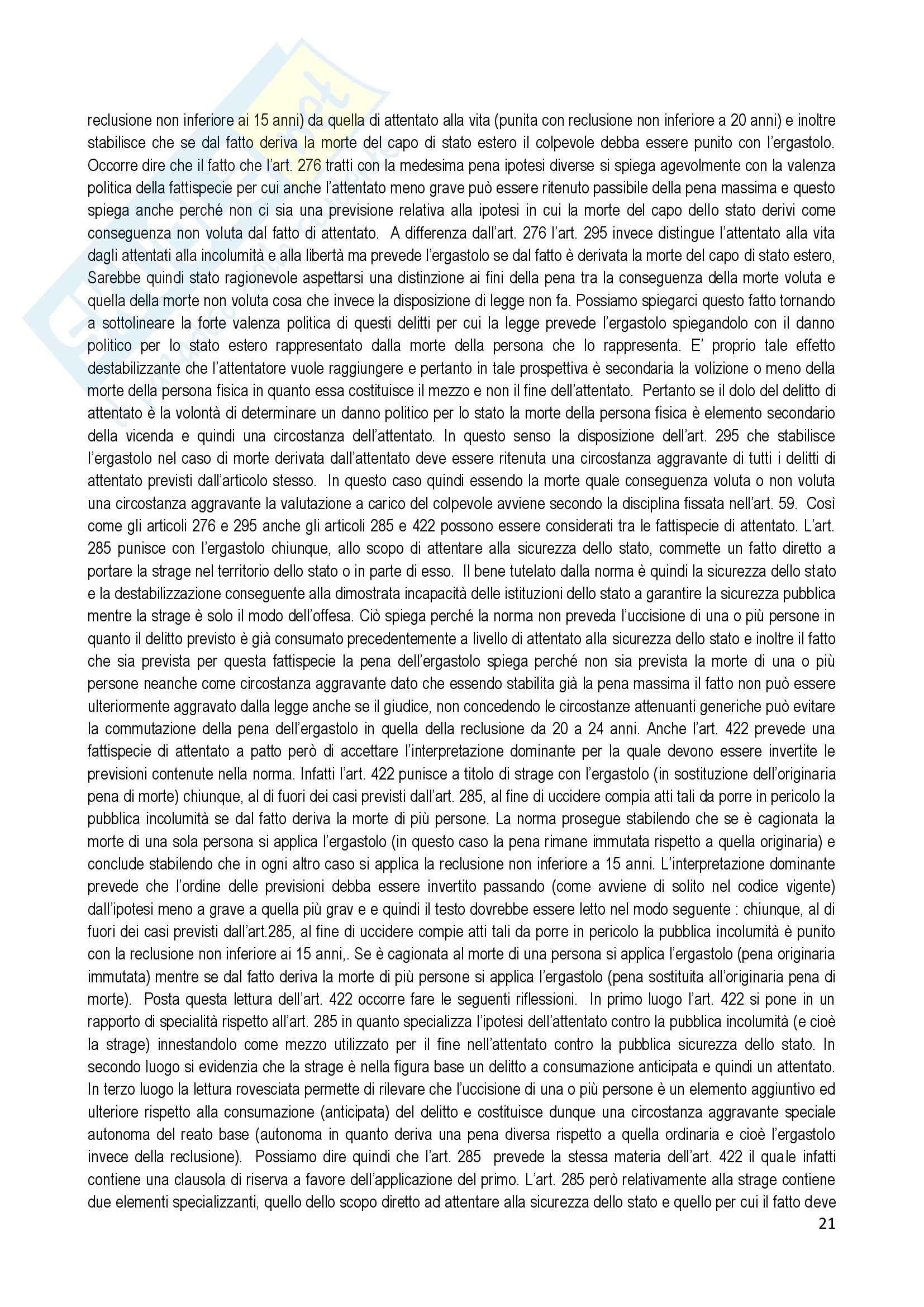 Riassunto esame Diritto Penale, prof. Ramacci, libro consigliato Delitti di Omicidio Pag. 21