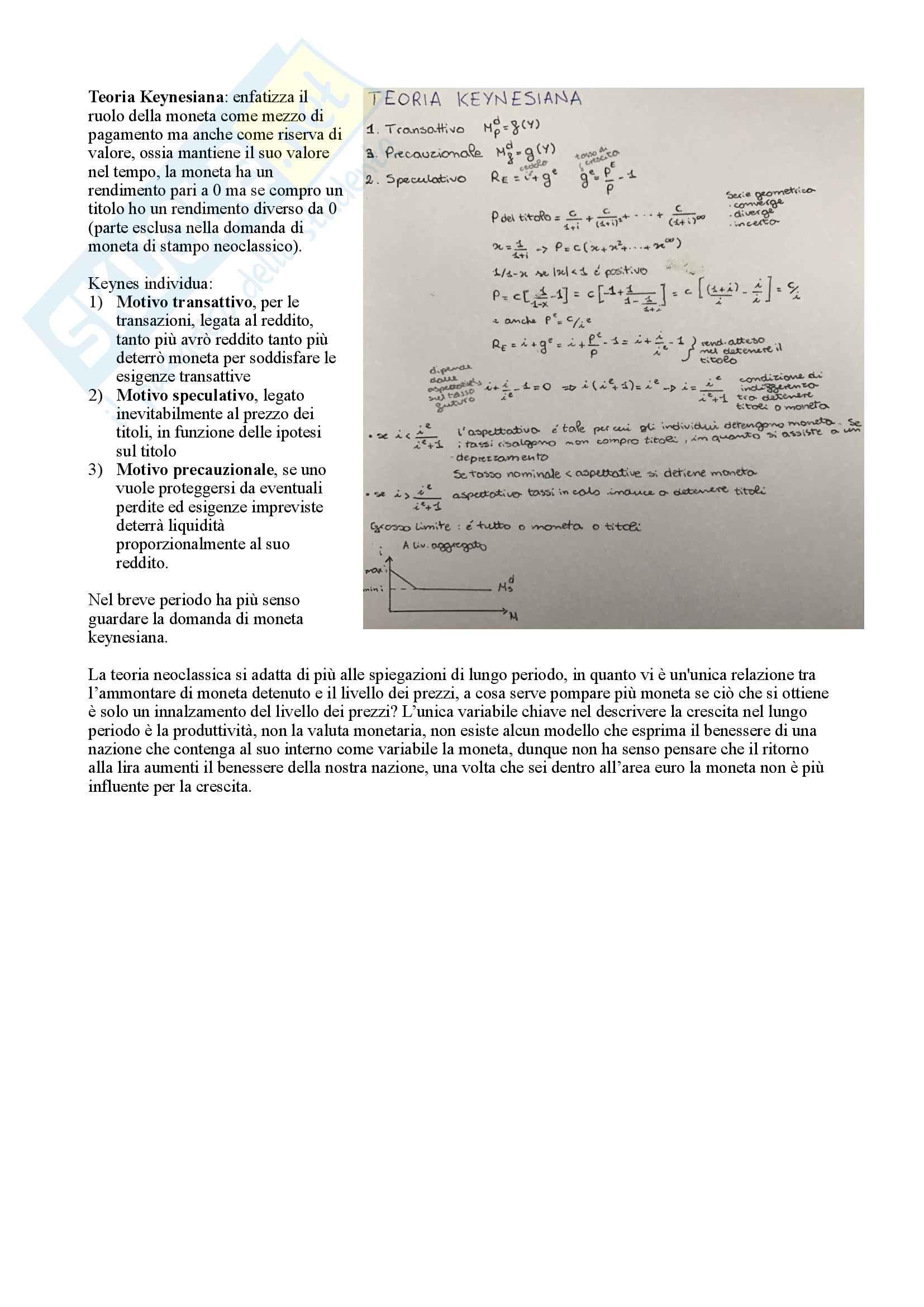 Economia monetaria Pag. 6