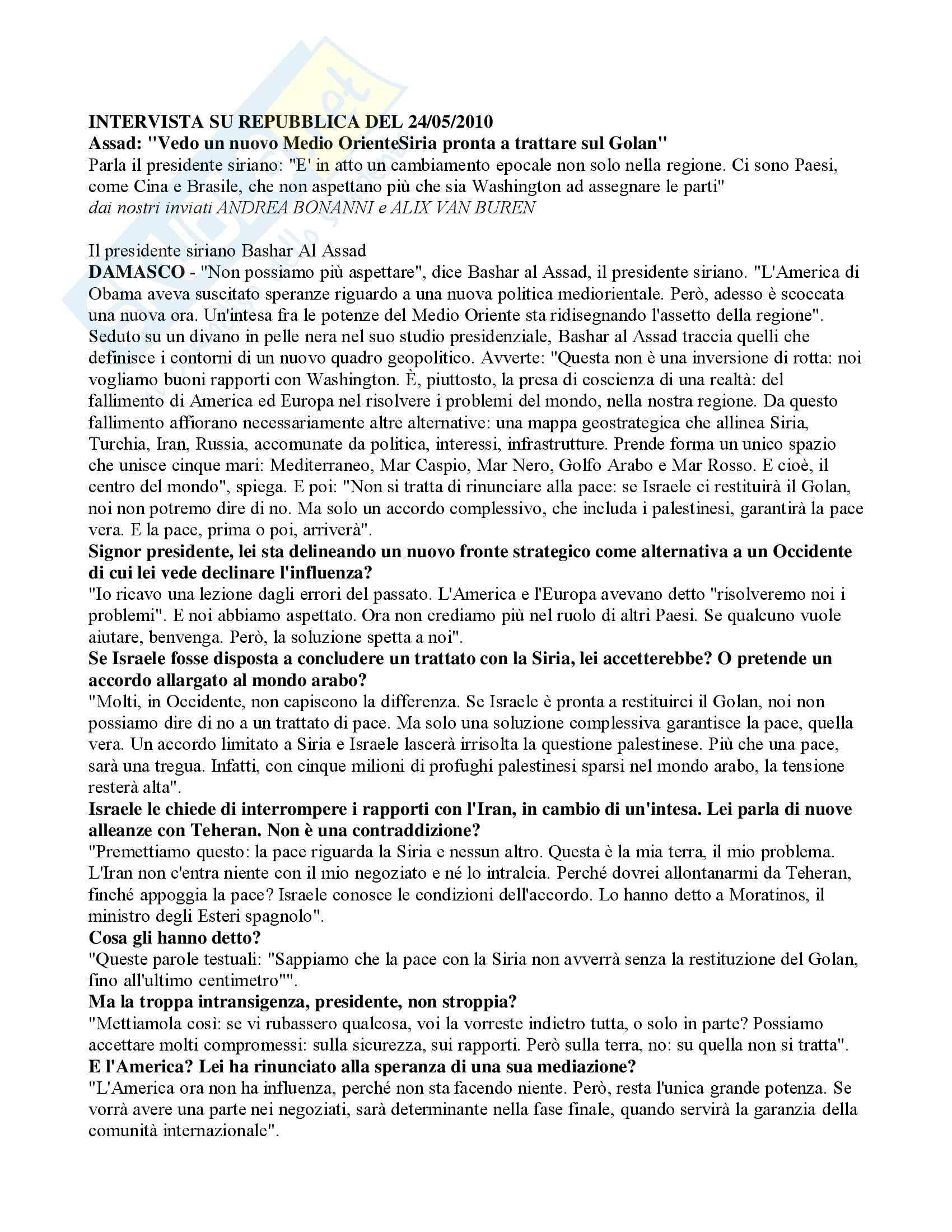 Diritto internazionale – articolo