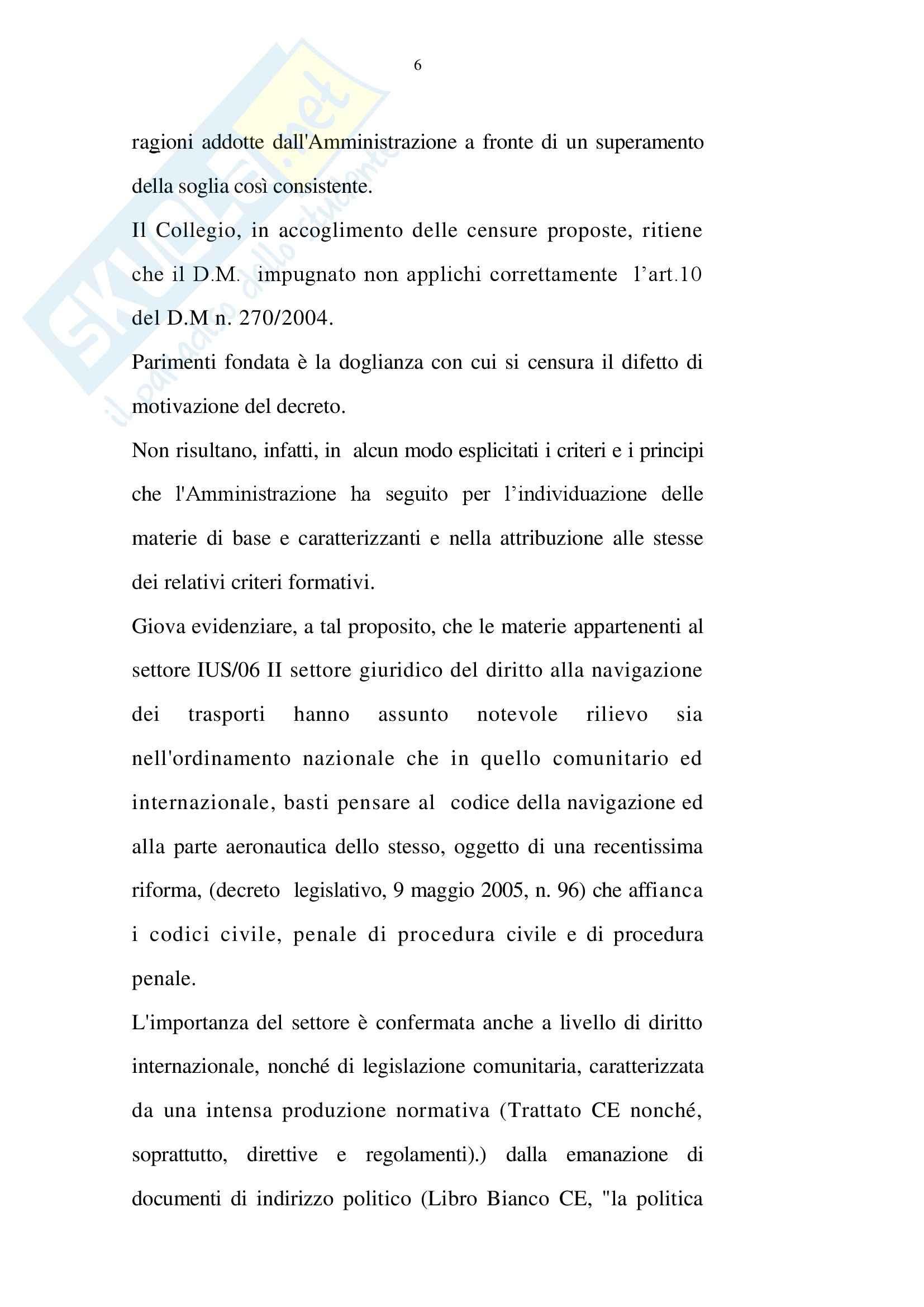 Diritto amministrativo -  Tribunale Amministrativo Regionale per il Lazio, Sezione III Pag. 6