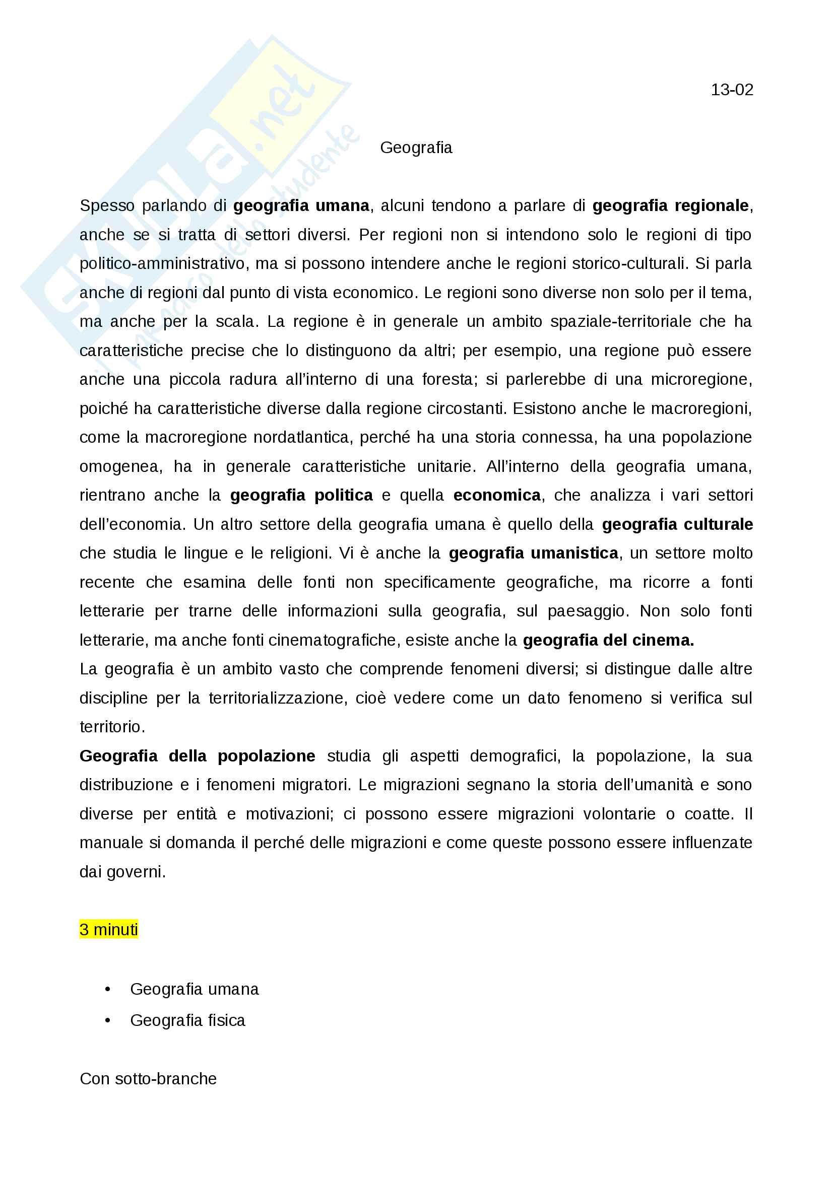 Appunti geografia modulo A - storia della geografia