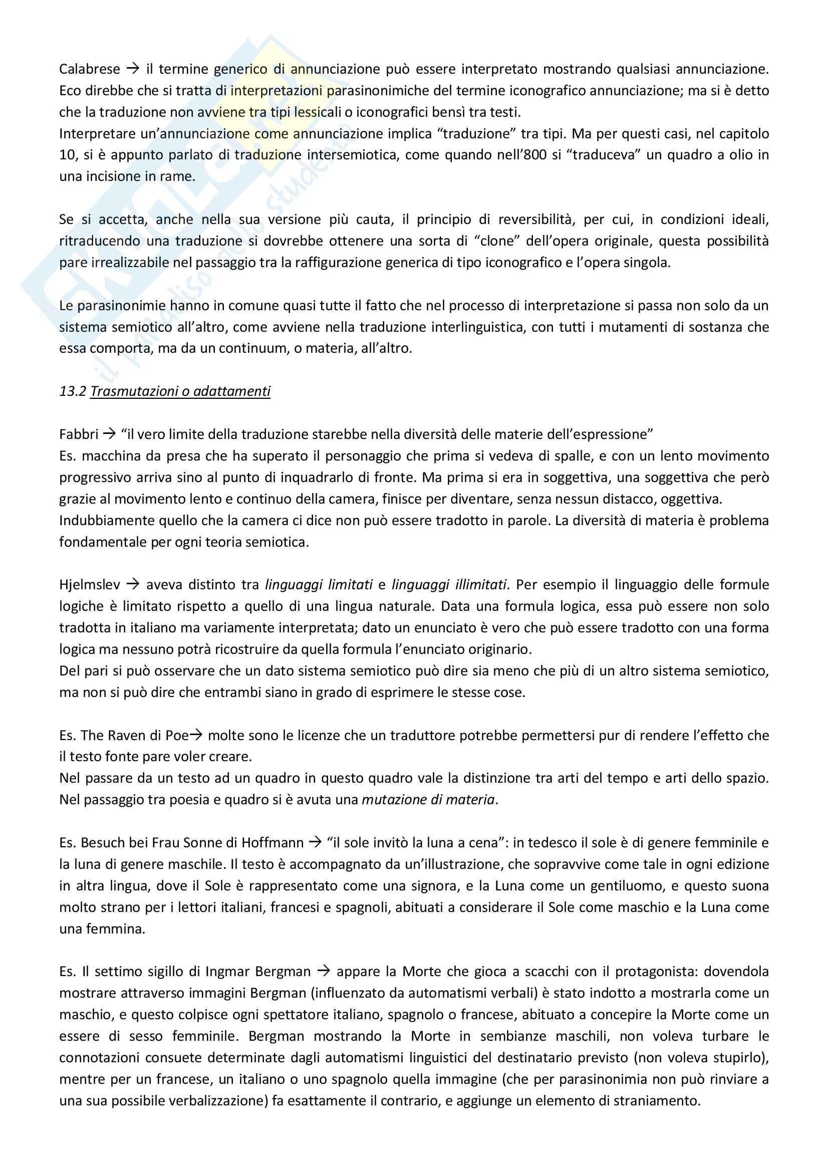 Riassunto esame Lingua e traduzione inglese, prof. Passera, libro consigliato Eco, Umberto, Dire quasi la stessa cosa Pag. 36