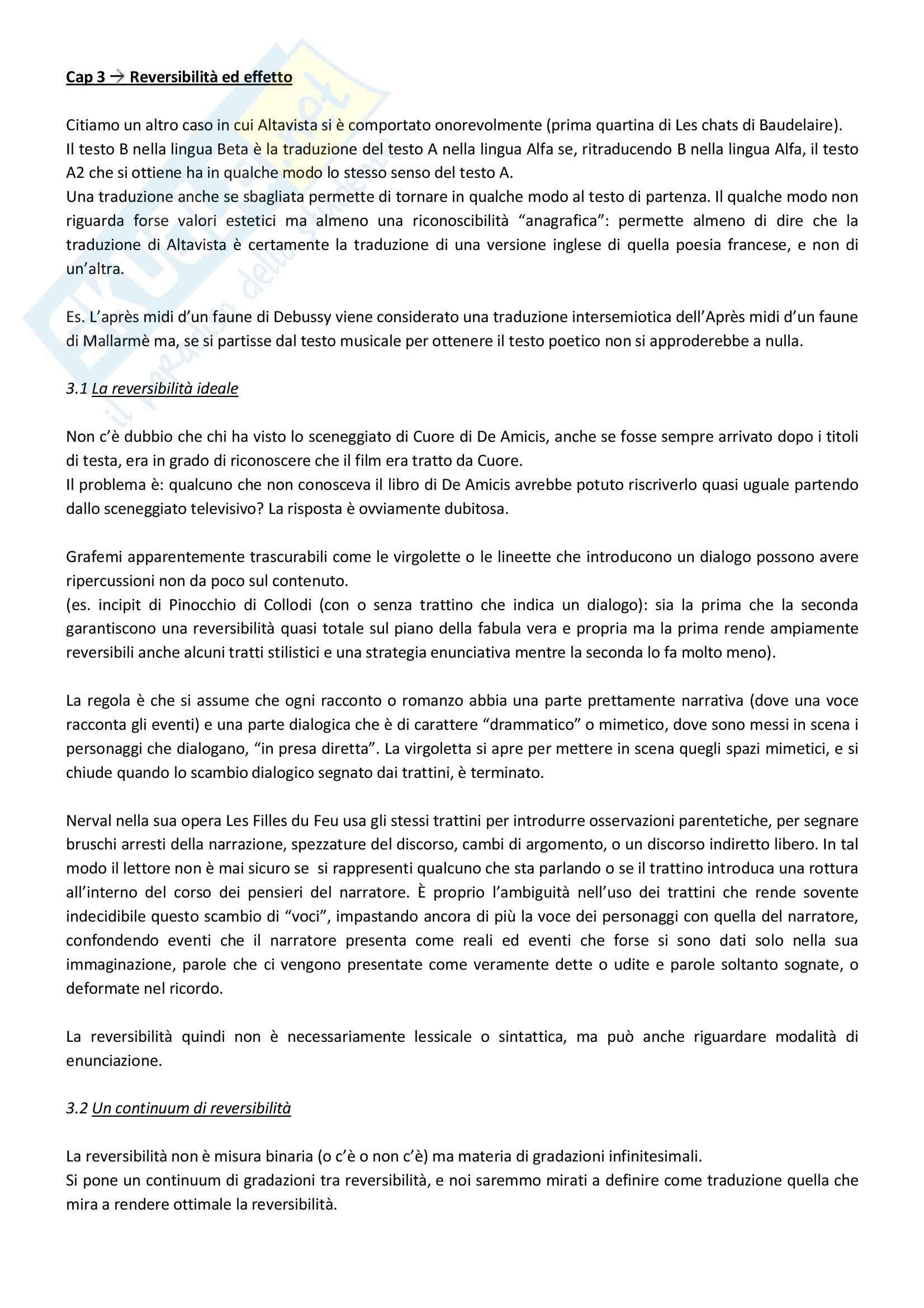 Riassunto esame Lingua e traduzione inglese, prof. Passera, libro consigliato Eco, Umberto, Dire quasi la stessa cosa Pag. 6