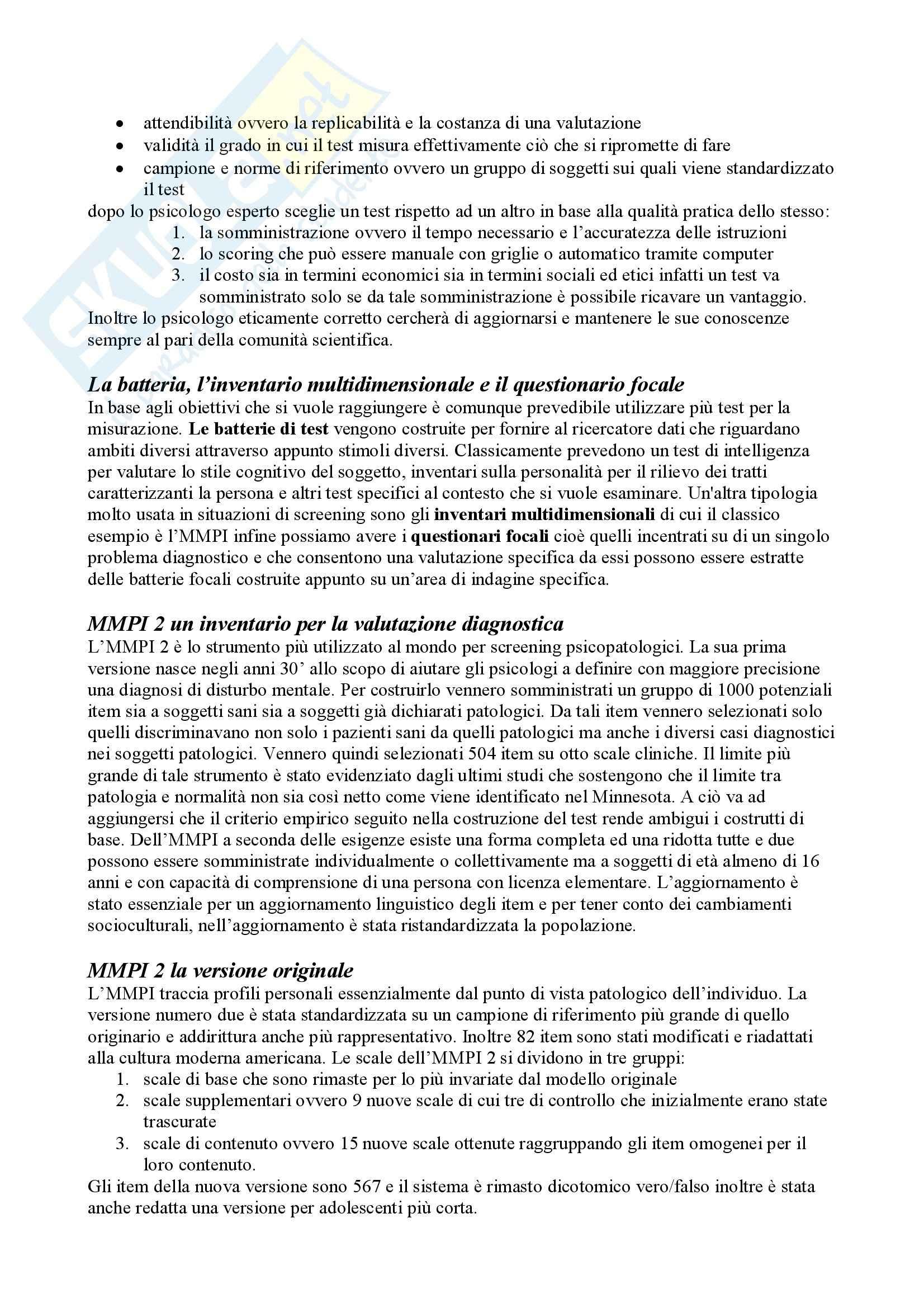 Riassunto esame Teoria e Pratica dei Test, prof. Cuzzocrea, libro consigliato Teoria e Pratica dei Test, Mucciarelli, Chattat, Celani Pag. 21