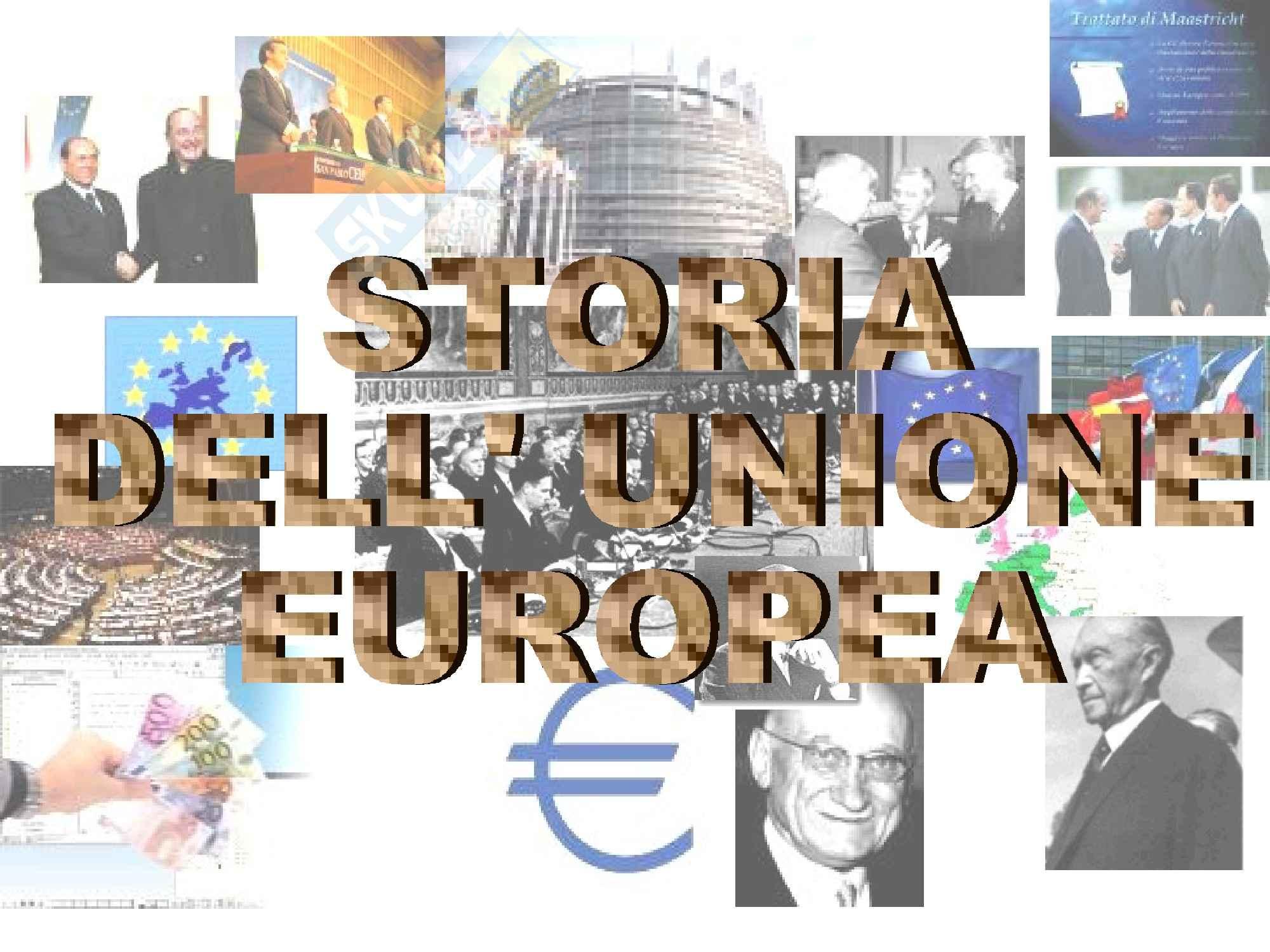 Diritto dell'Unione Europea - la storia dell'Unione Europea
