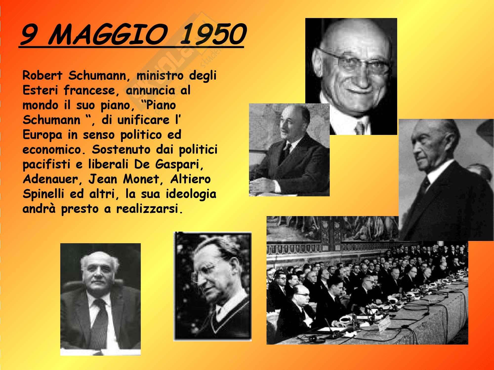 Diritto dell'Unione Europea - la storia dell'Unione Europea Pag. 2