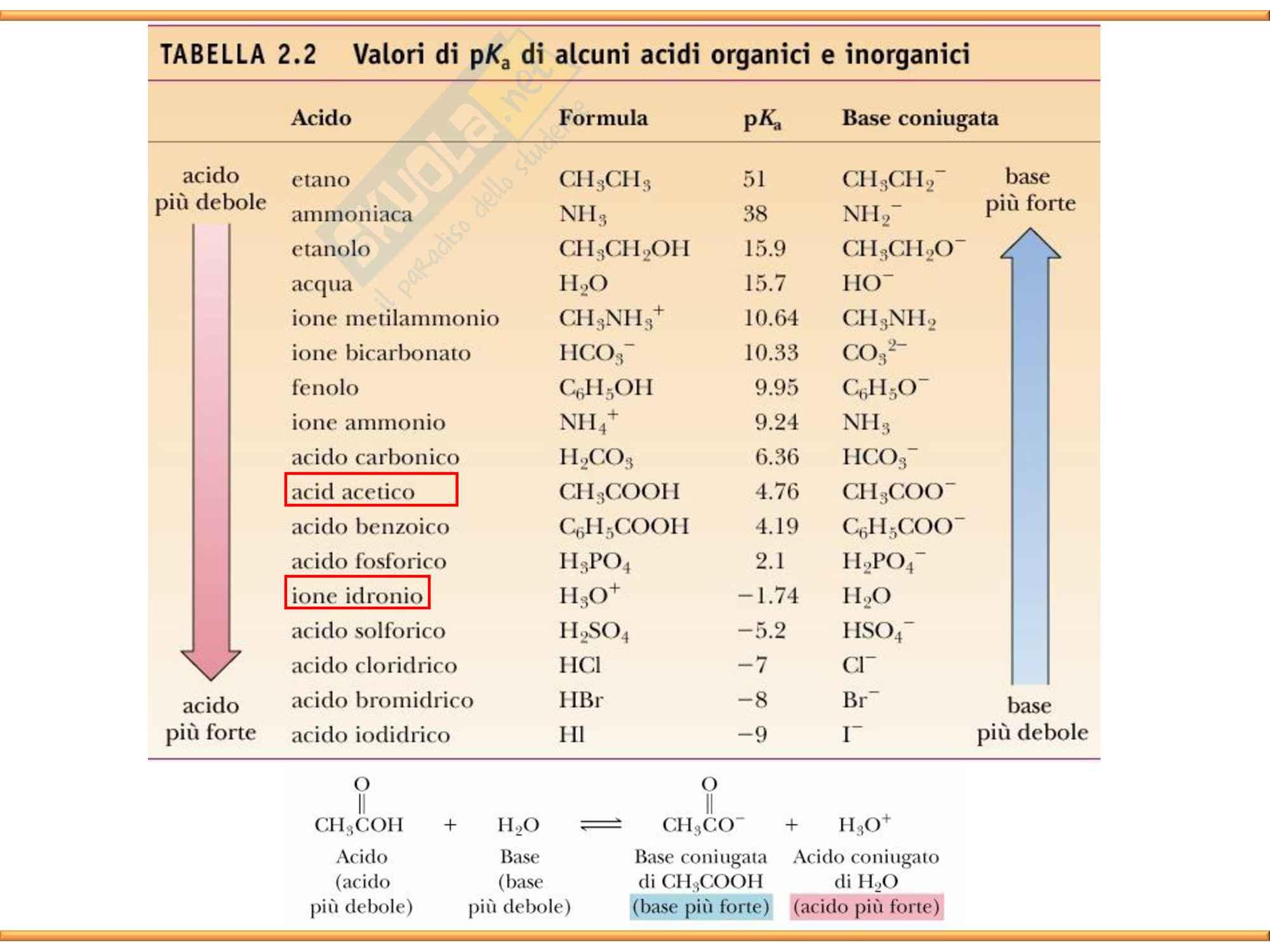 Chimica Organica: Acidi e Basi Pag. 11