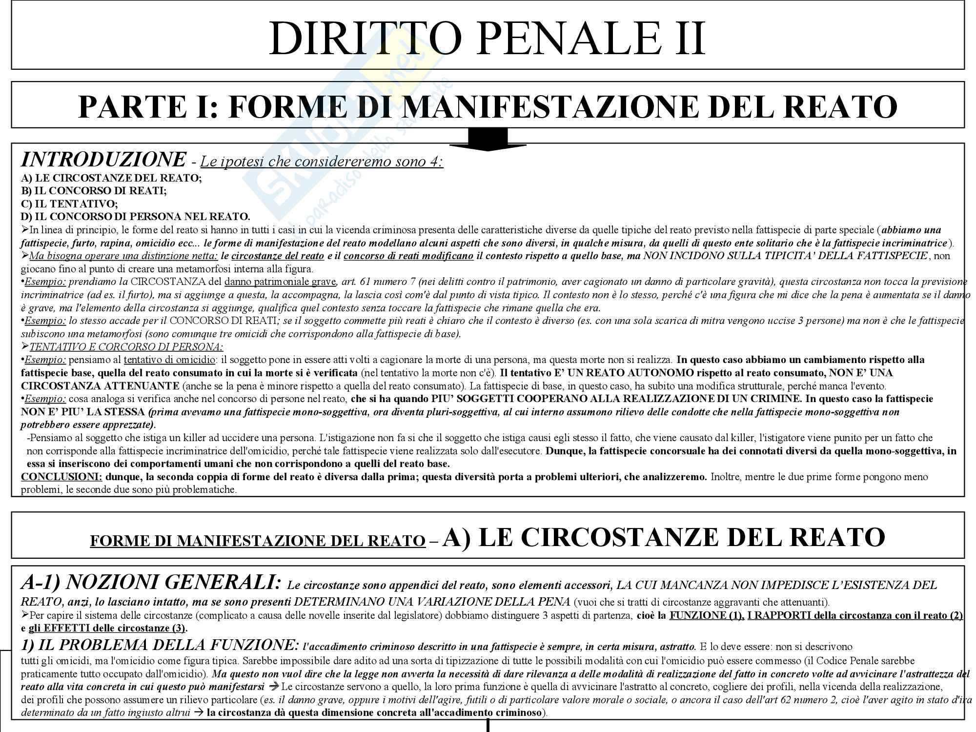 Diritto Penale II