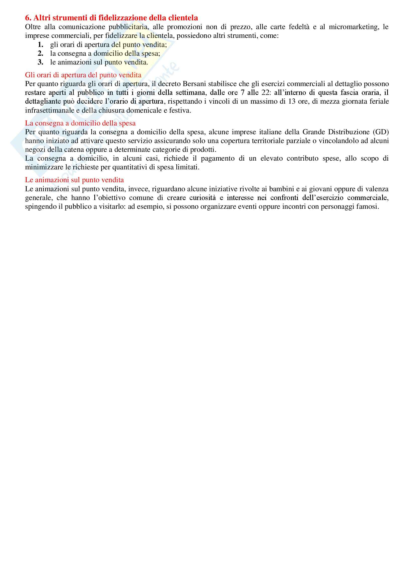 Riassunto esame Economia e gestione delle imprese commerciali, libro adottato Contemporary retailing - Il governo dell'impresa commerciale moderna di Roberto Sbrana e Alessandro Grandolfo (Edizione 2007) Pag. 56