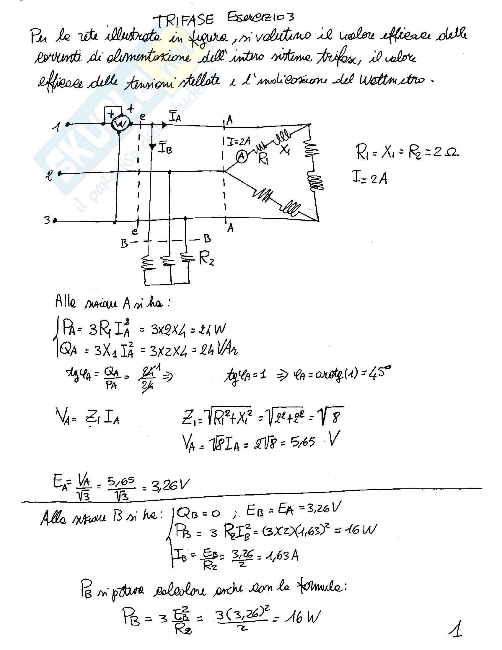Elettrotecnica - Esercizi