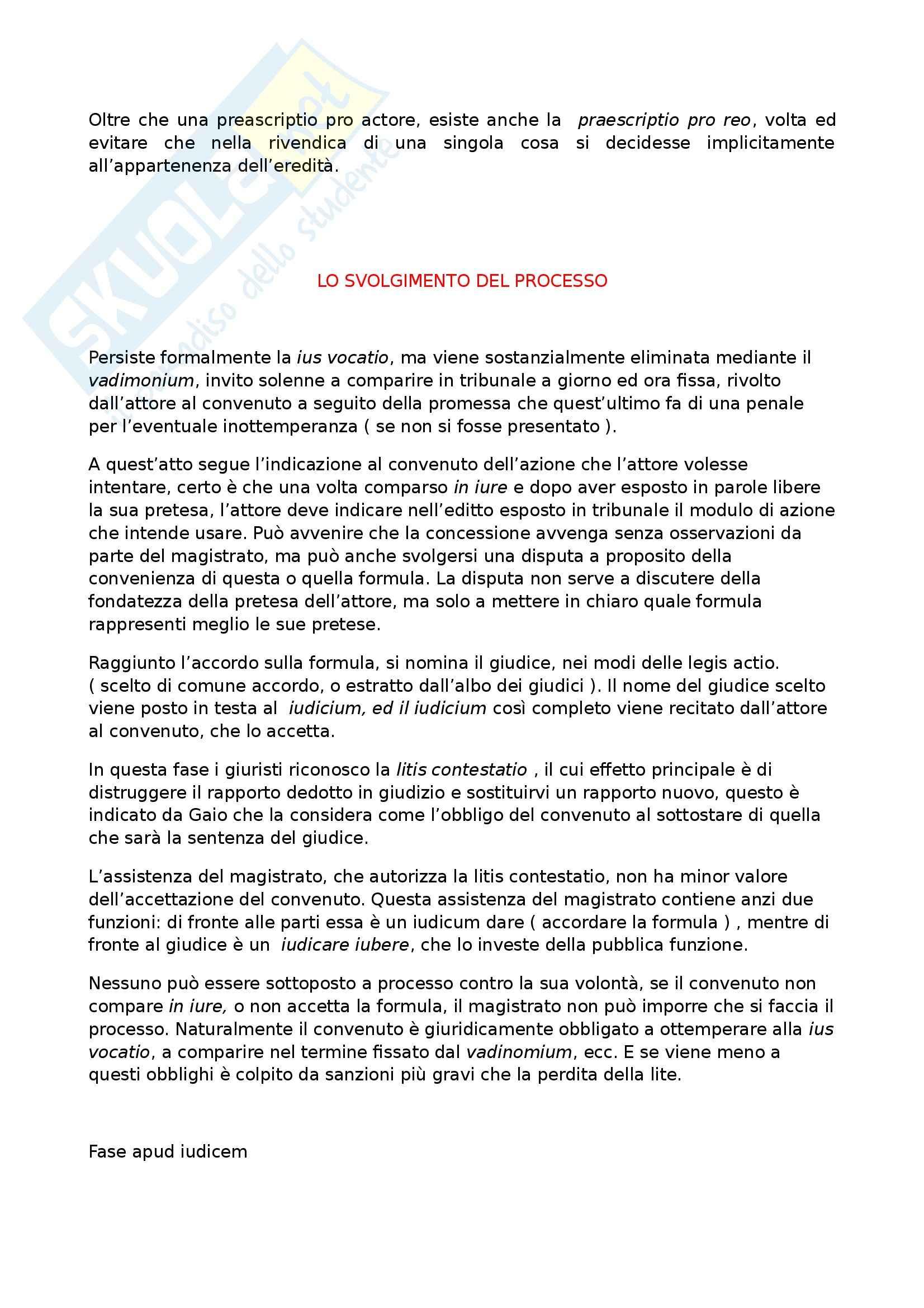 Riassunto esame Diritto Romano Privato, prof. Zuccotti, libro consigliato Istituzioni di Diritto Romano, Arangio Ruiz Pag. 16