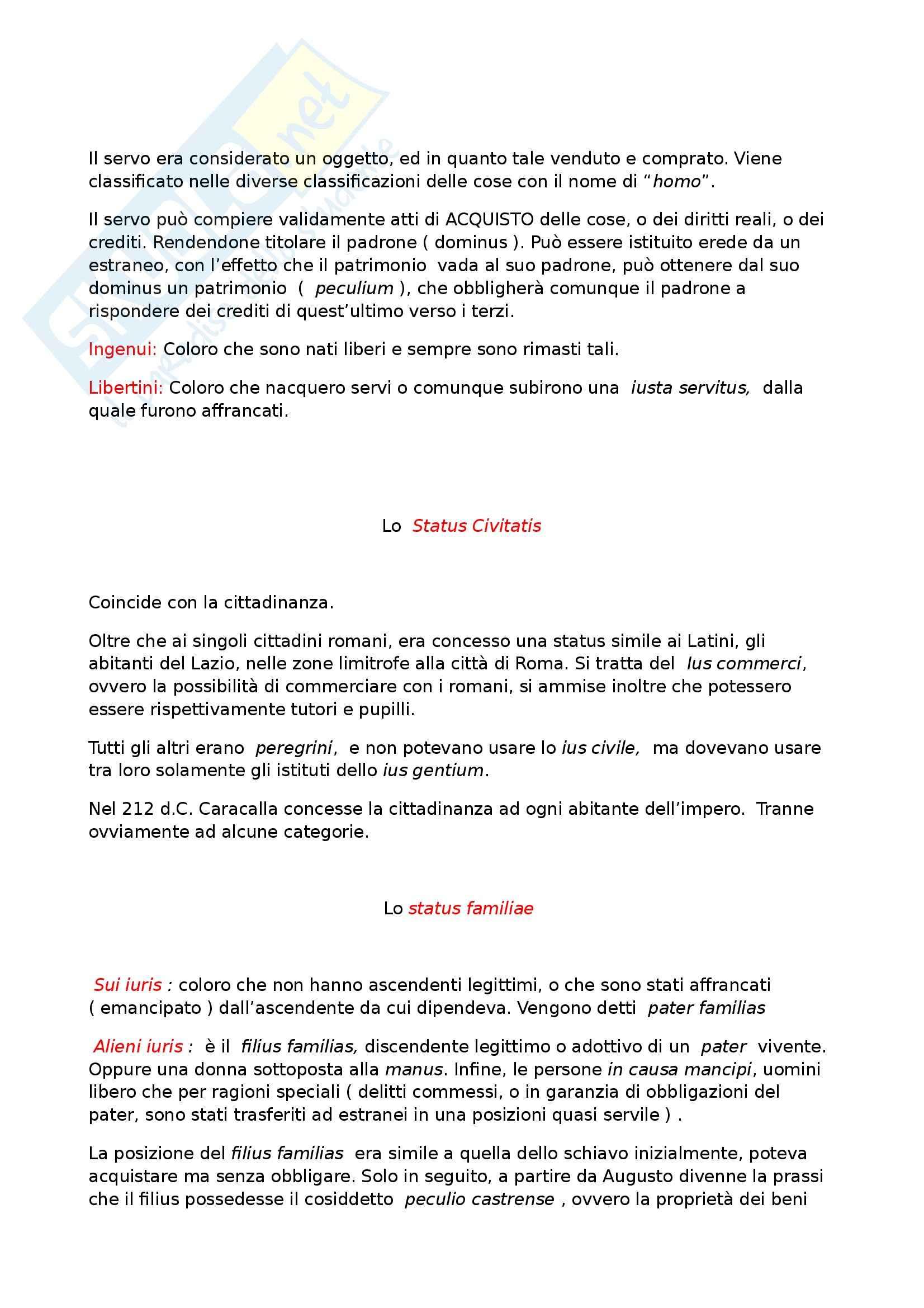 Riassunto esame Diritto Romano Privato, prof. Zuccotti, libro consigliato Istituzioni di Diritto Romano, Arangio Ruiz Pag. 2