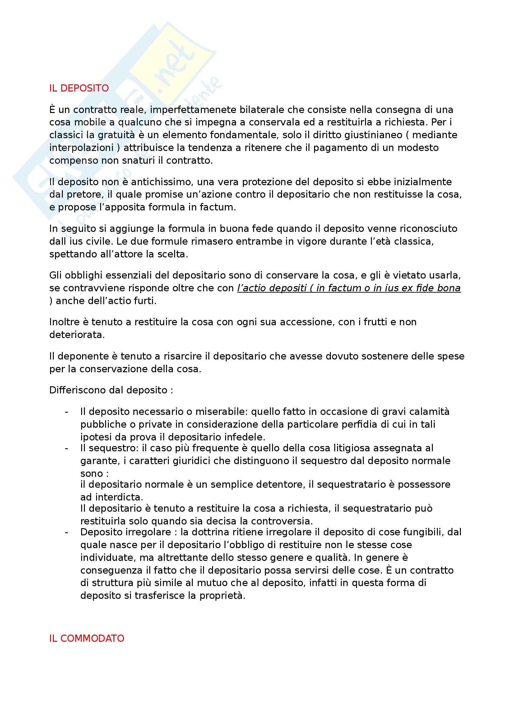 Riassunto esame Diritto Romano Privato, prof. Zuccotti, libro consigliato Istituzioni di Diritto Romano, Arangio Ruiz Pag. 36