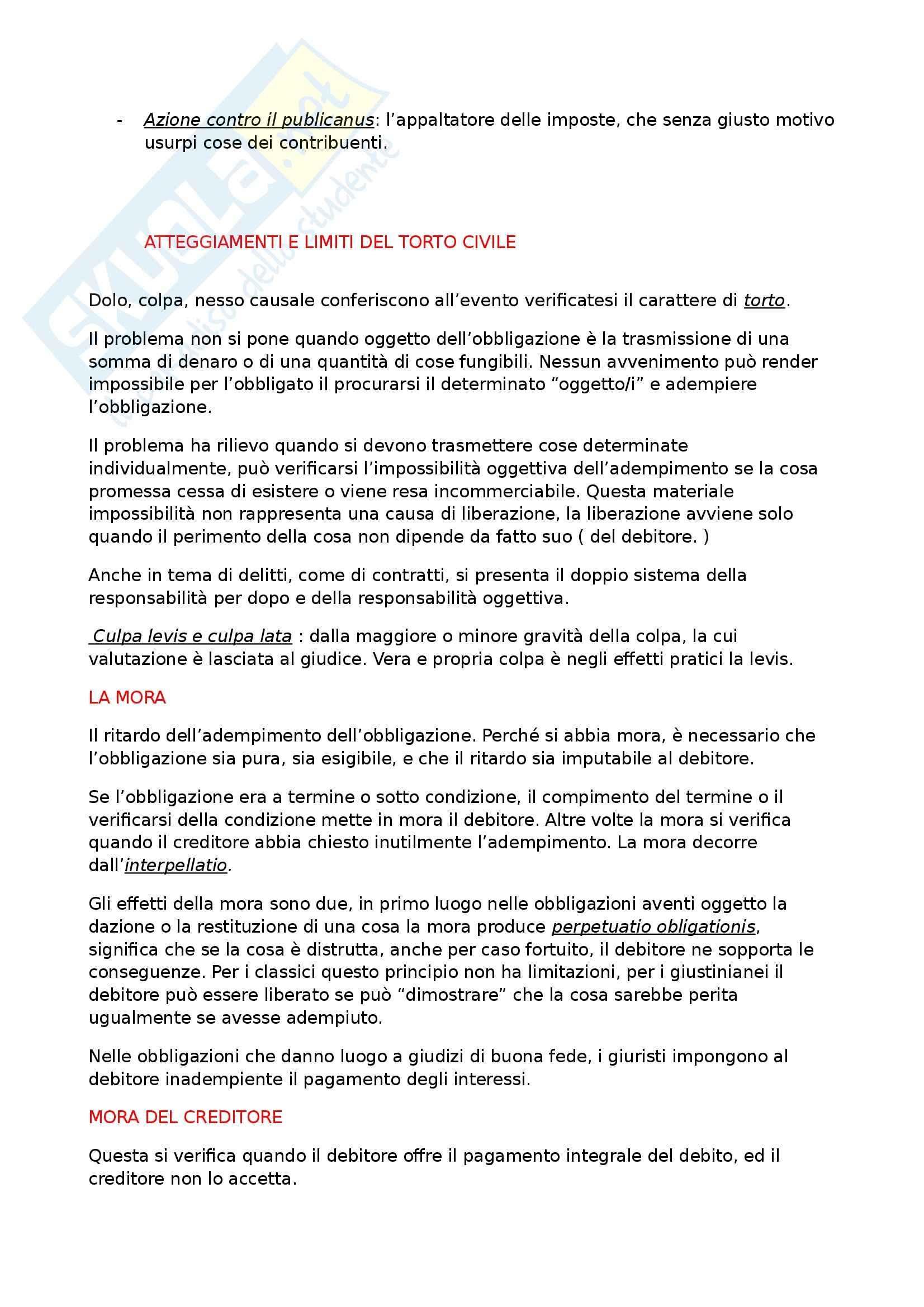 Riassunto esame Diritto Romano Privato, prof. Zuccotti, libro consigliato Istituzioni di Diritto Romano, Arangio Ruiz Pag. 46