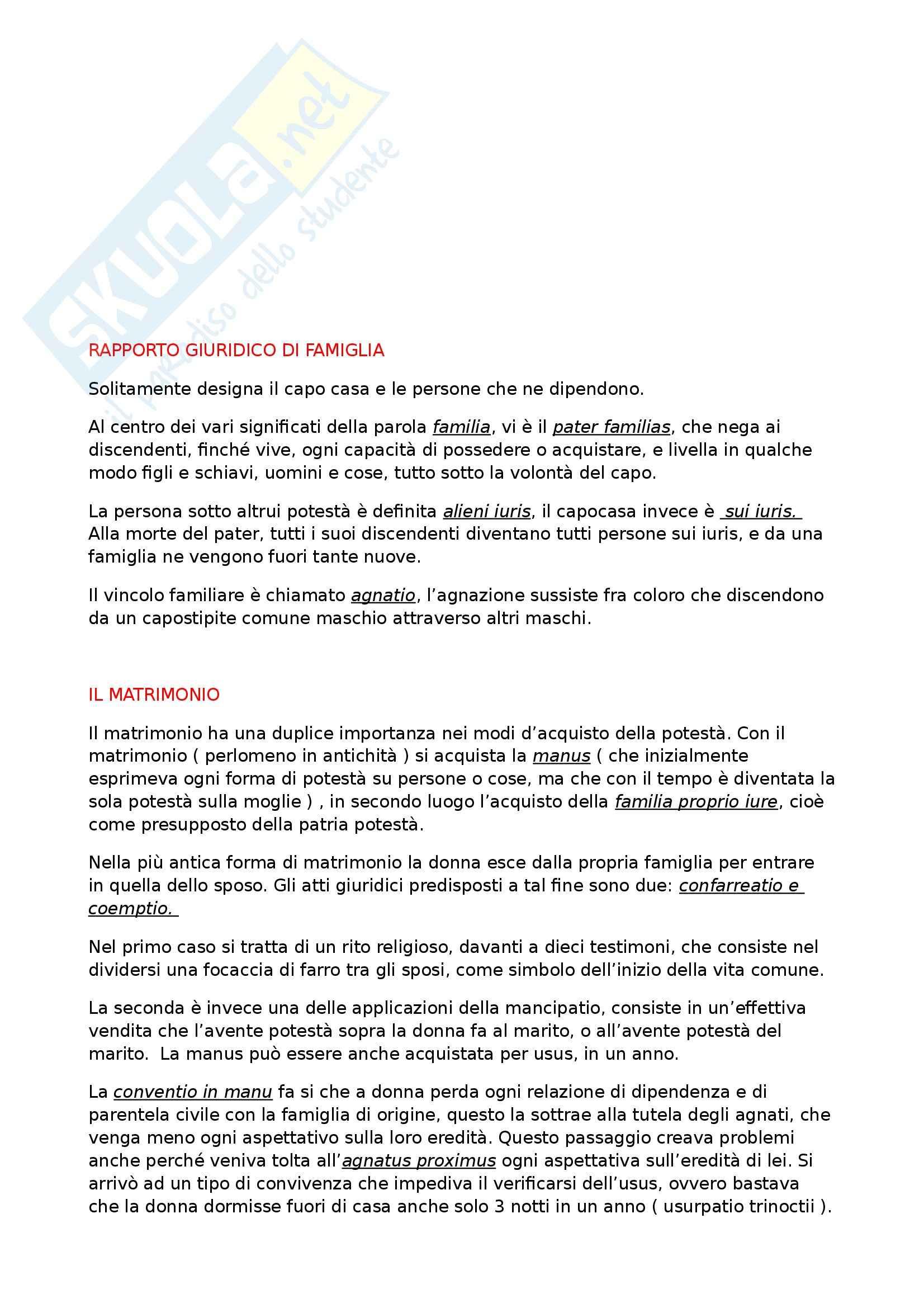 Riassunto esame Diritto Romano Privato, prof. Zuccotti, libro consigliato Istituzioni di Diritto Romano, Arangio Ruiz Pag. 51