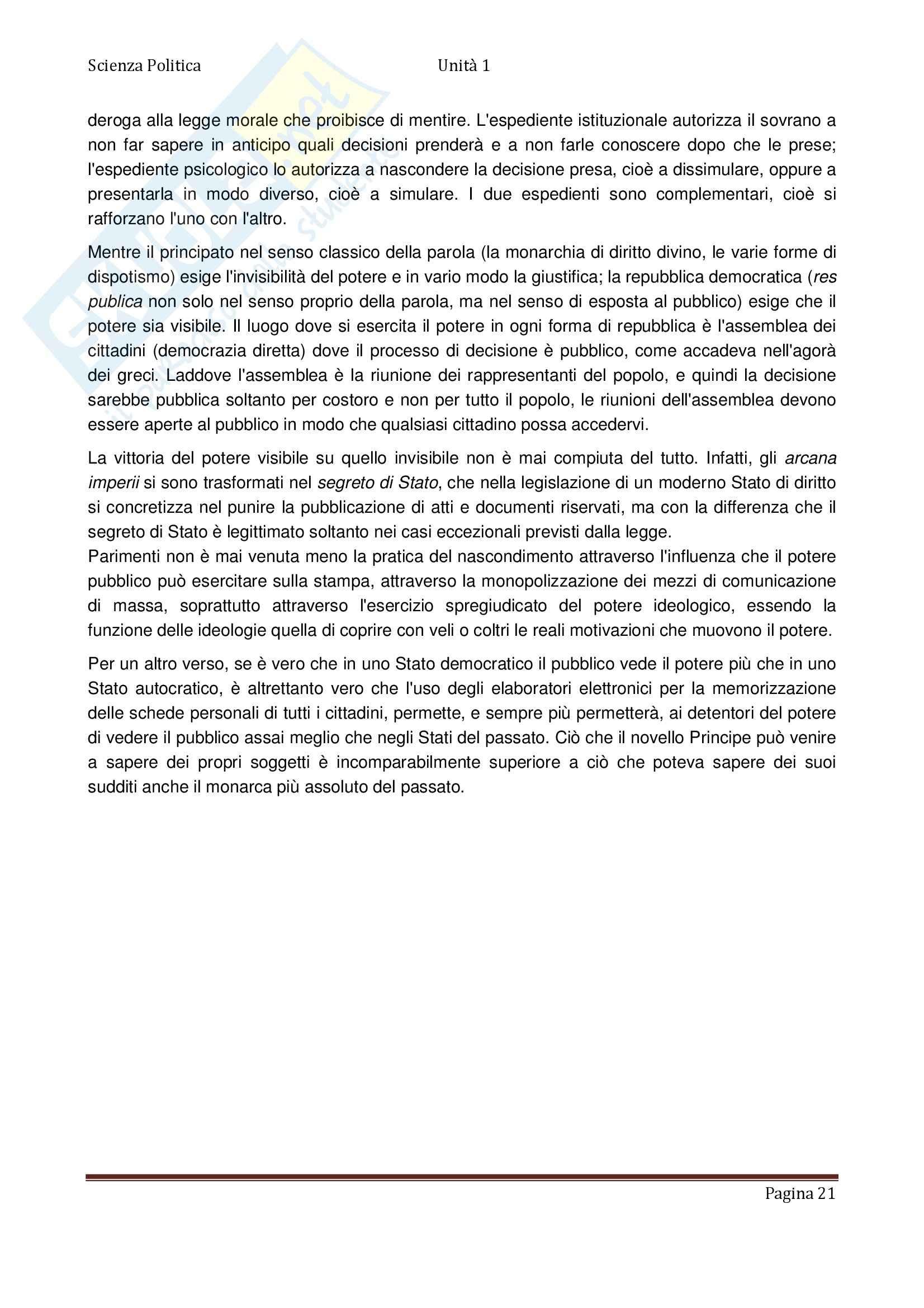 Scienza politica - Appunti Pag. 21