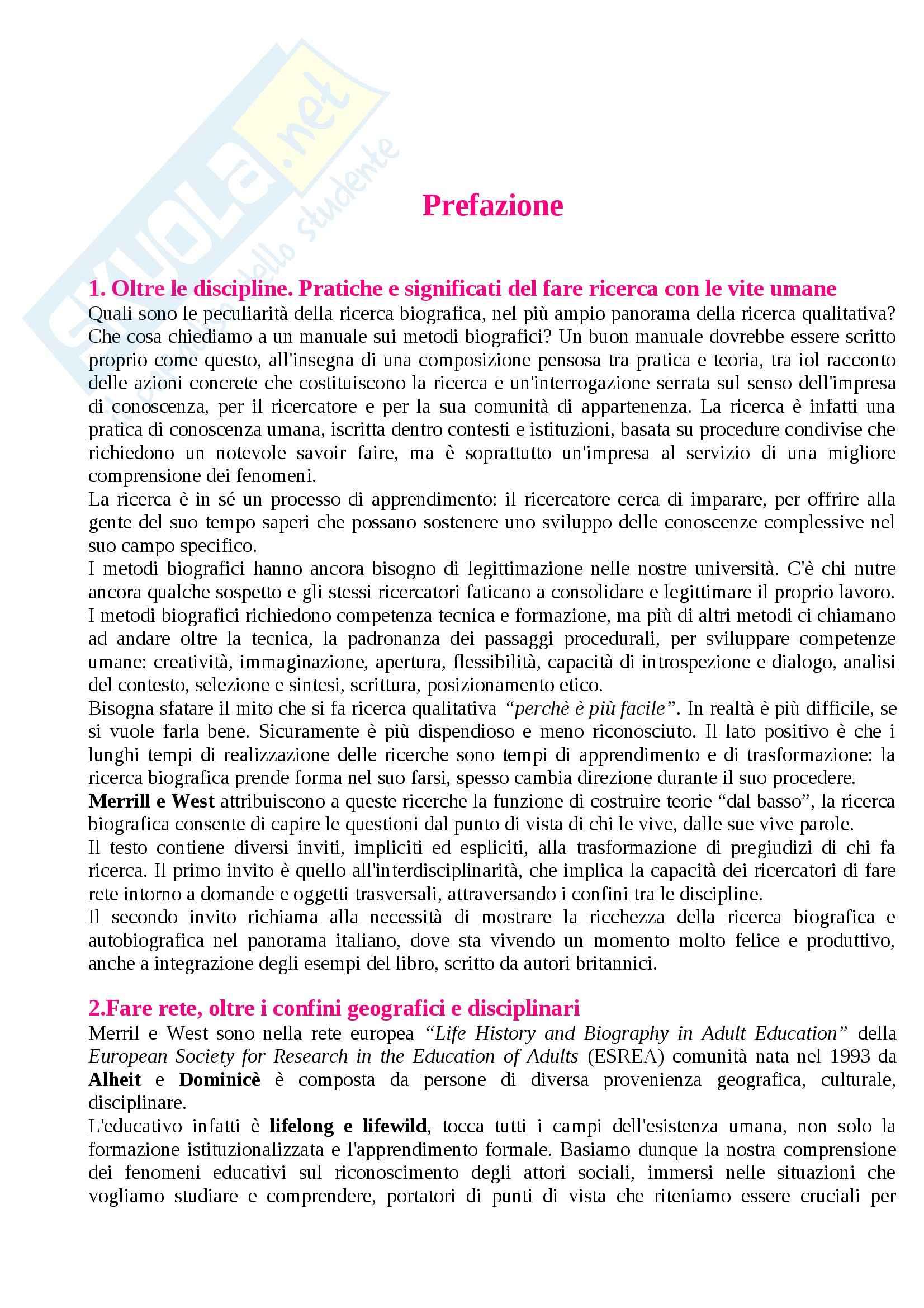 appunto M. Selvaggio Metodi e tecniche della ricerca sociale