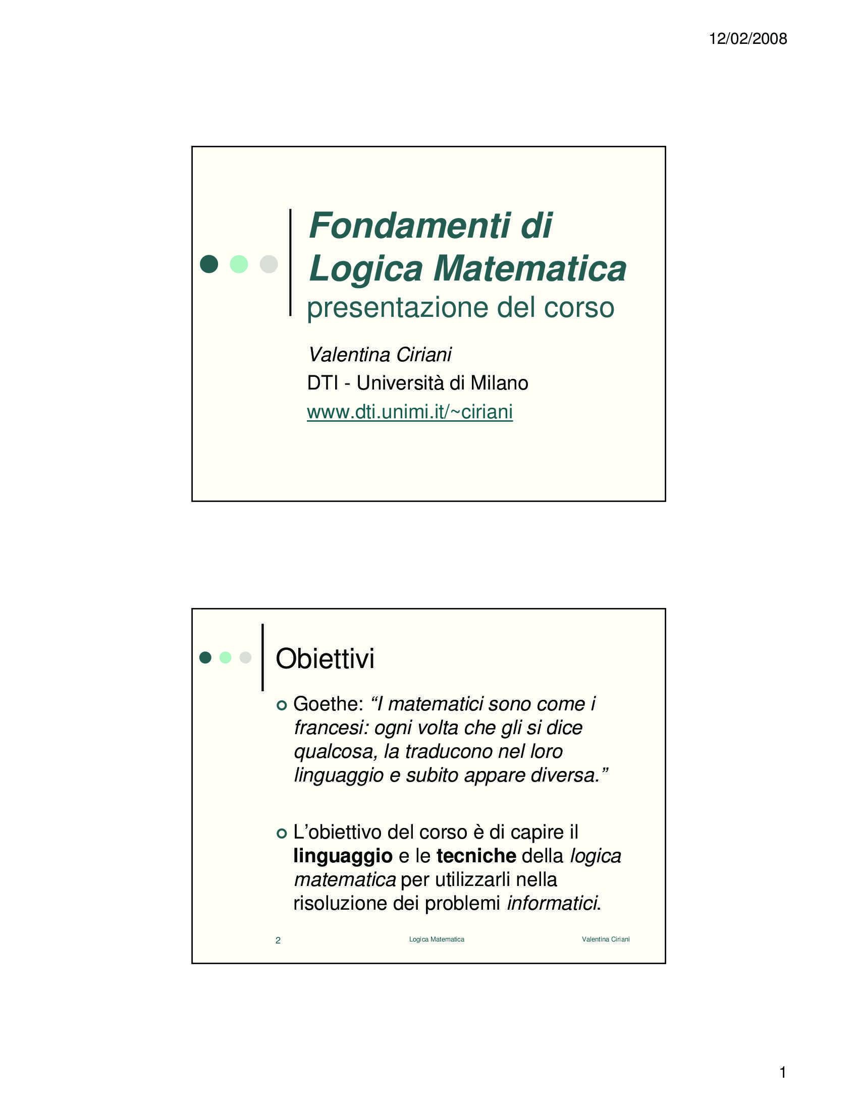 Logica matematica - Corso completo