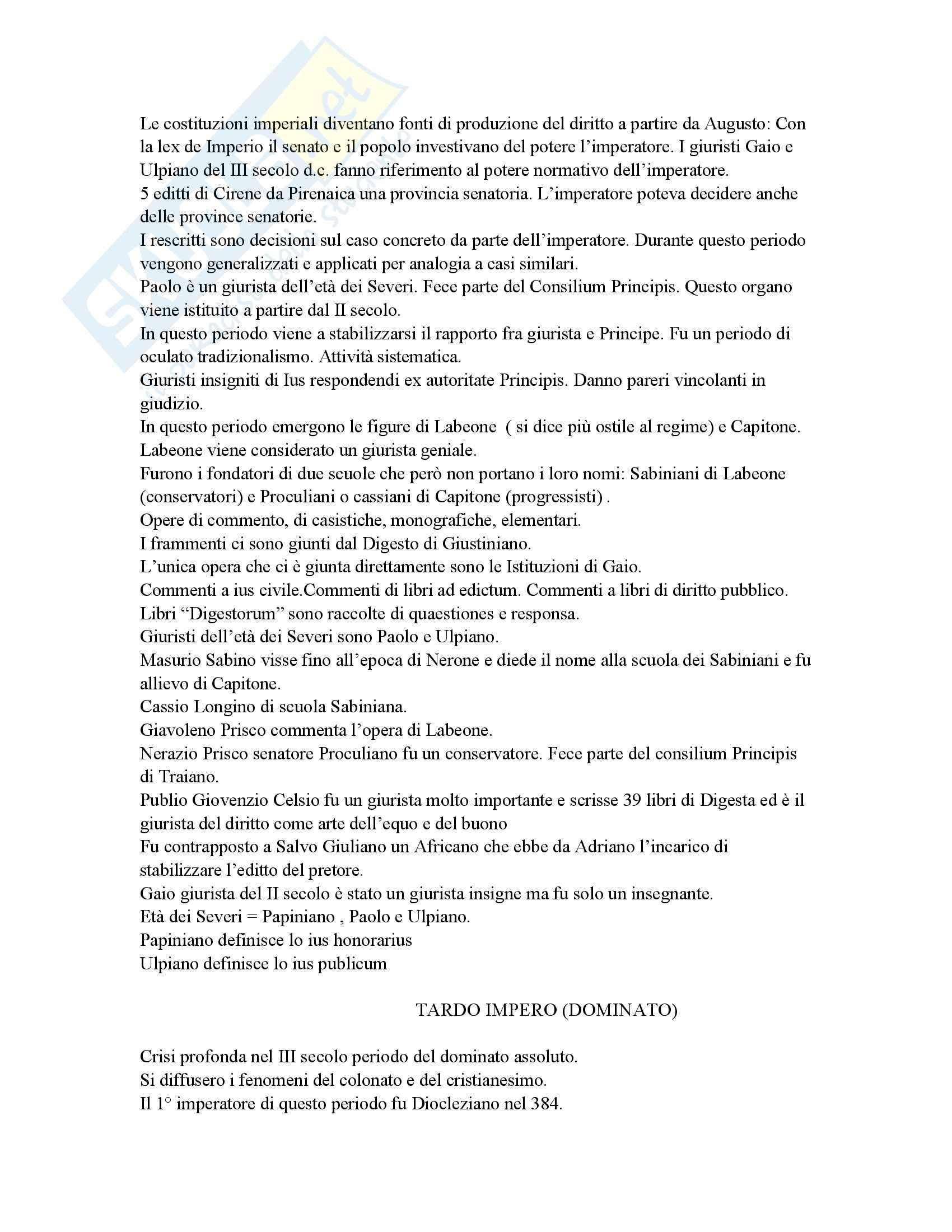 Diritto romano - Lezioni e Marrone