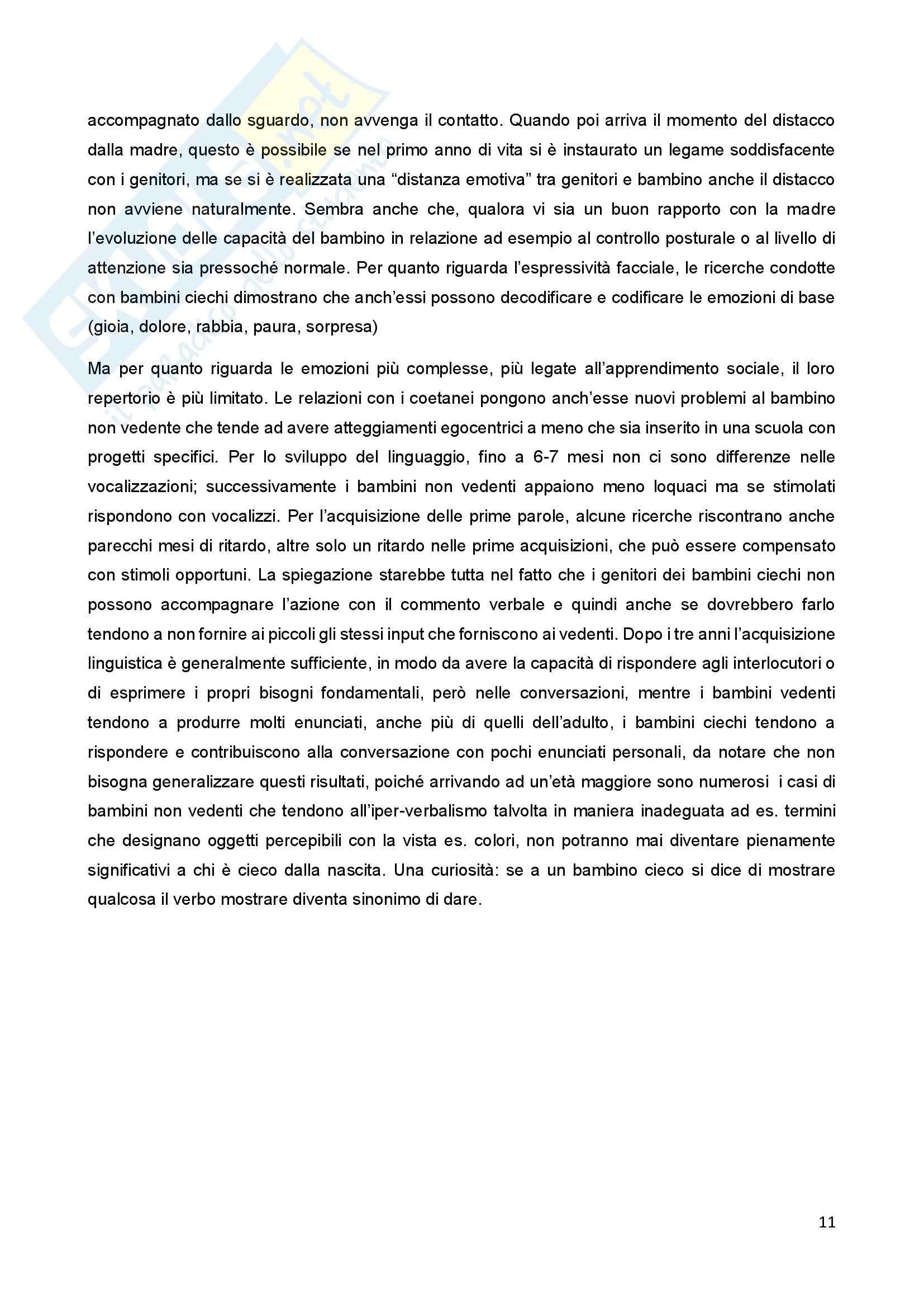 Riassunto esame Psicologia della Disabilitànello Sviluppo, prof. Bigozzi, libro consigliato Zanobini, Usai Pag. 11