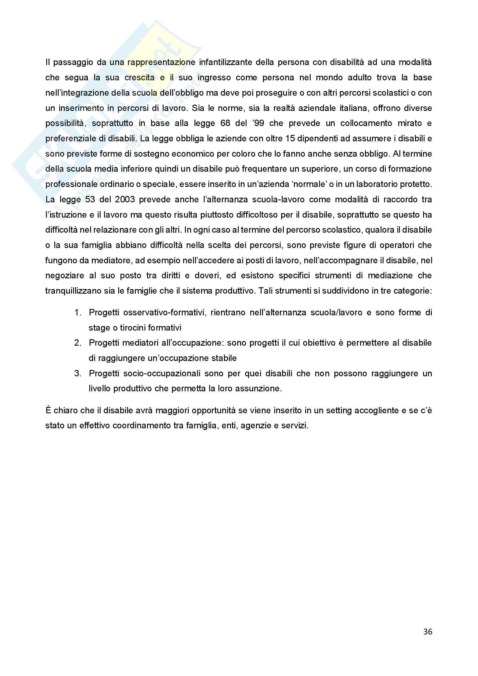 Riassunto esame Psicologia della Disabilitànello Sviluppo, prof. Bigozzi, libro consigliato Zanobini, Usai Pag. 36