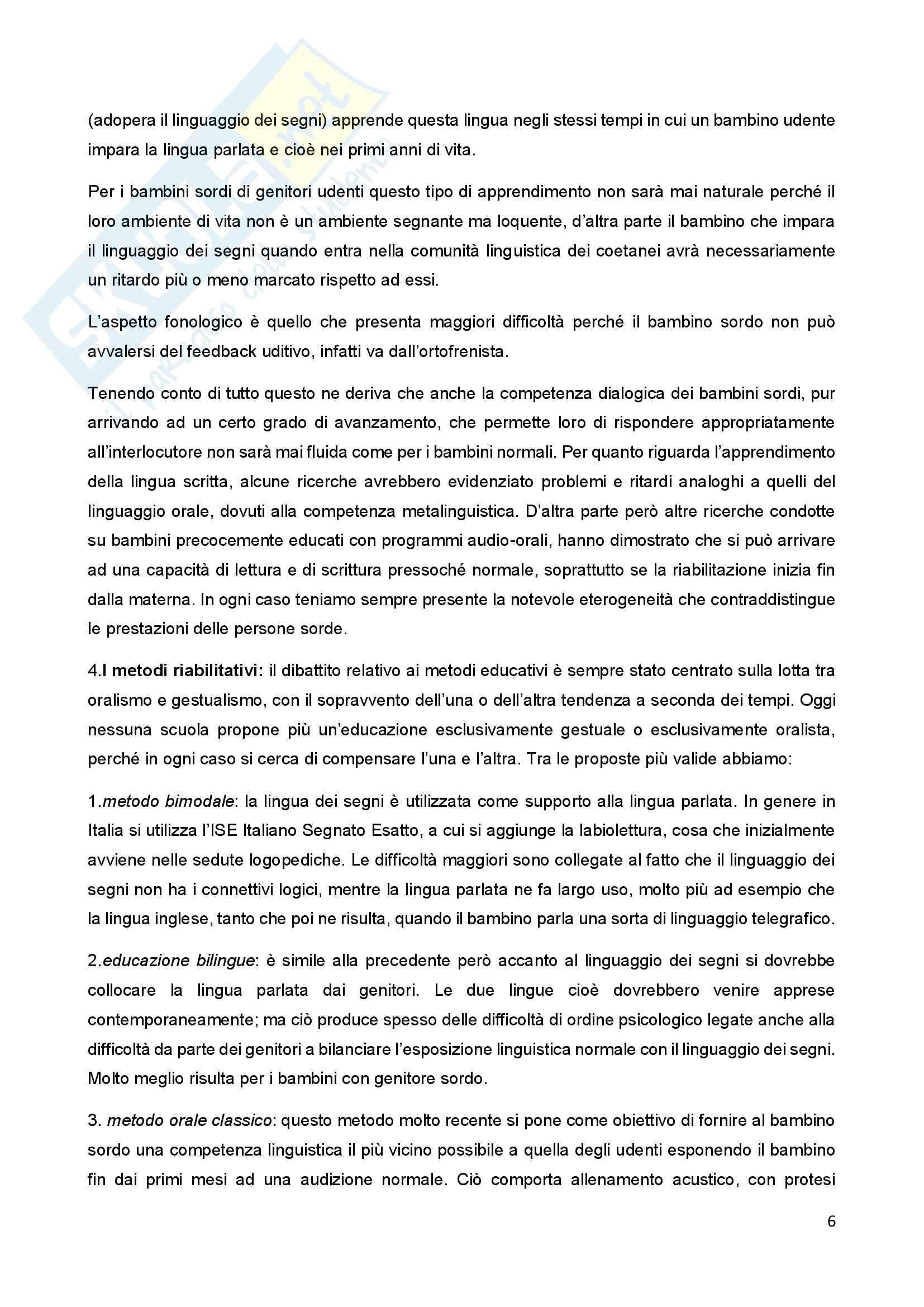 Riassunto esame Psicologia della Disabilitànello Sviluppo, prof. Bigozzi, libro consigliato Zanobini, Usai Pag. 6