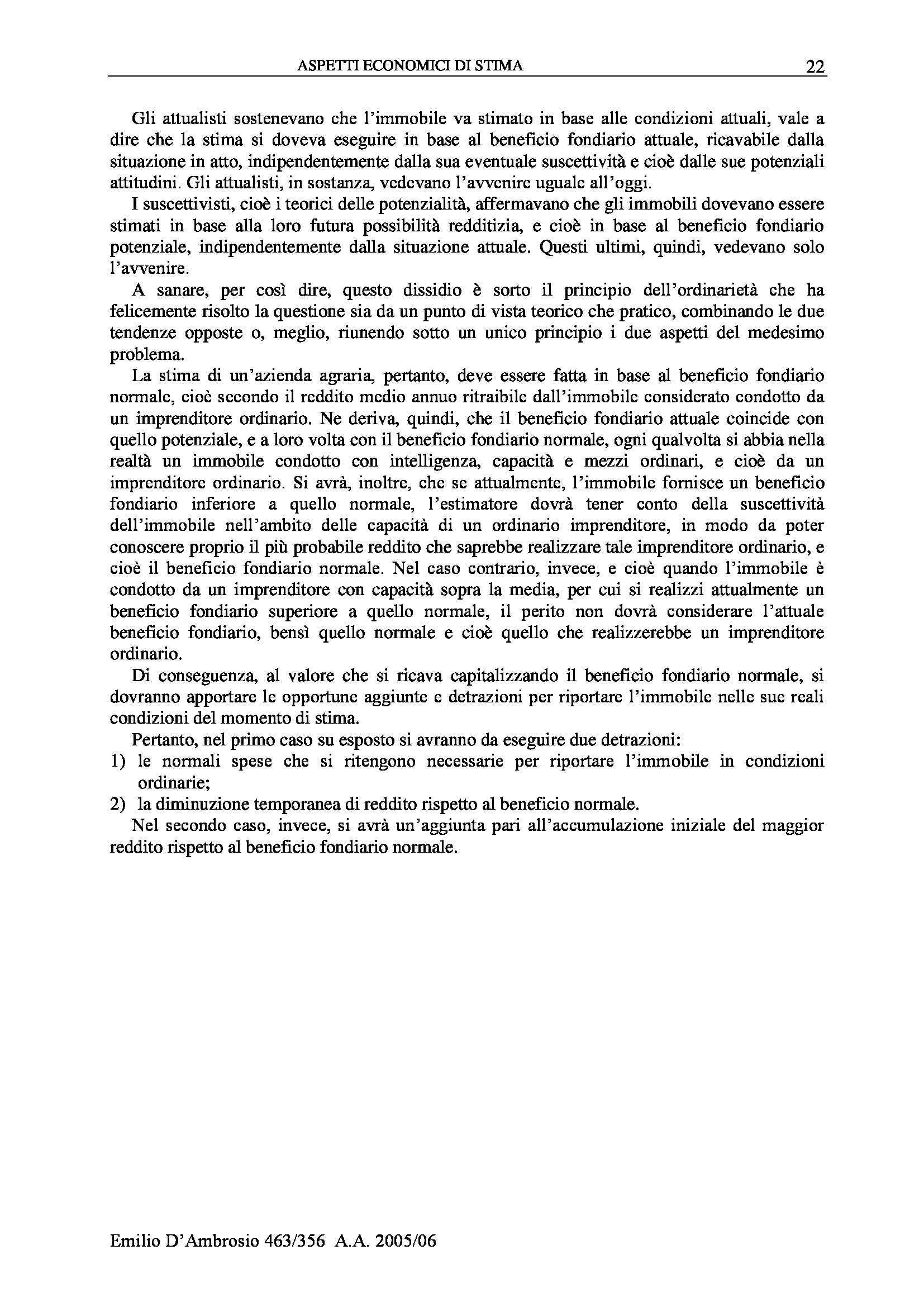 Estimo Generale e Speciale - Appunti Pag. 26