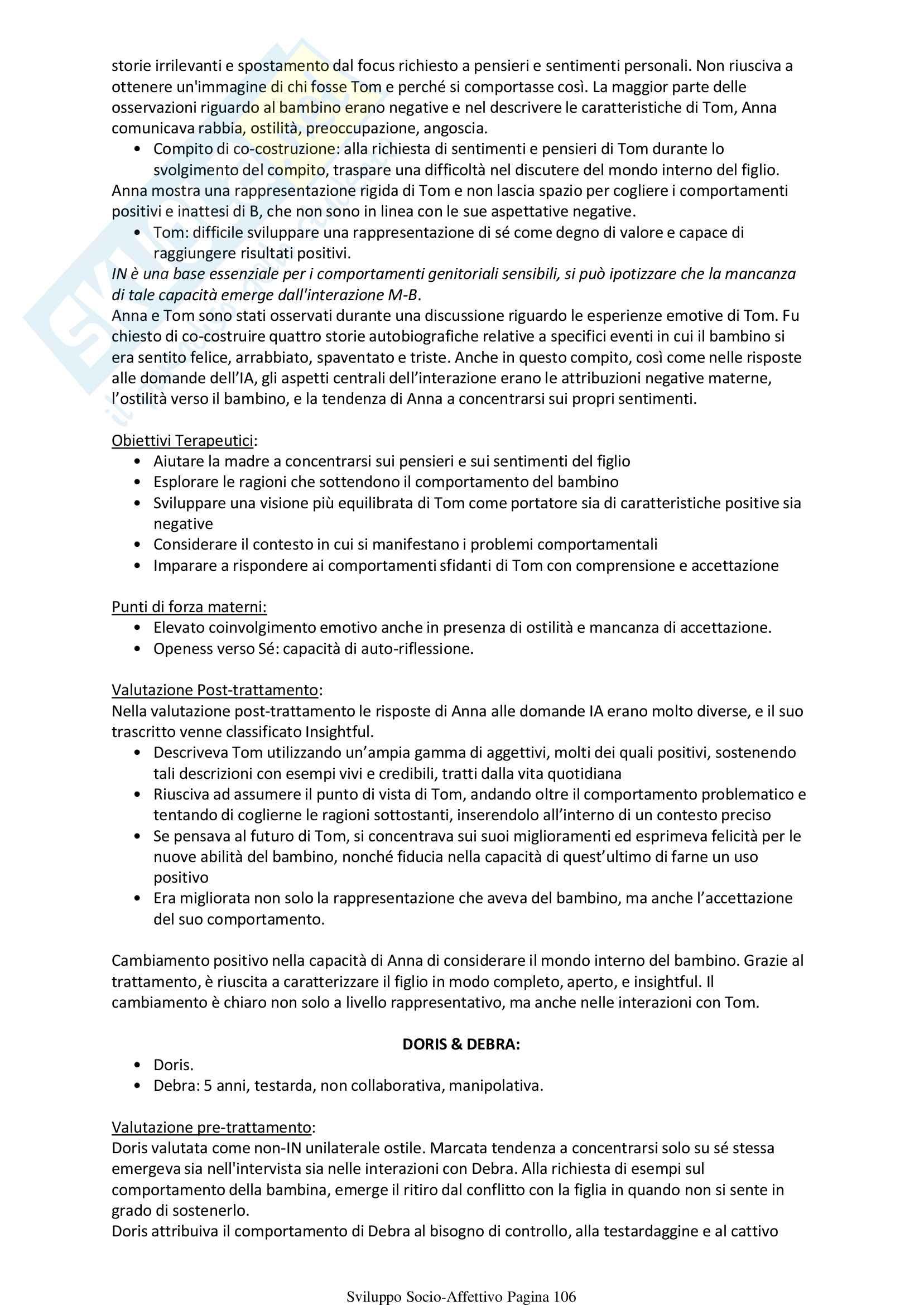 Psicologia Sviluppo Socio Affettivo Pag. 106