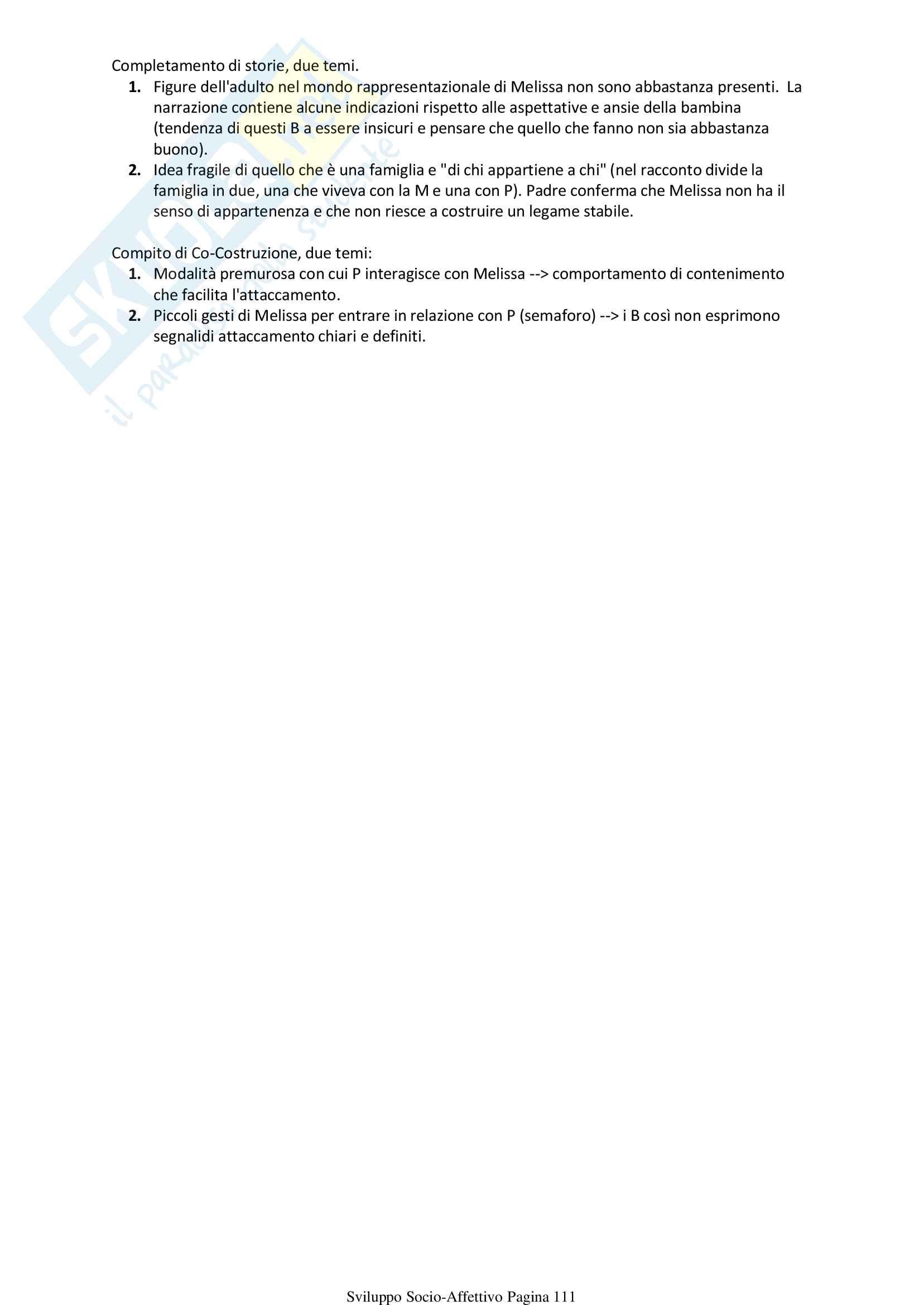 Psicologia Sviluppo Socio Affettivo Pag. 111