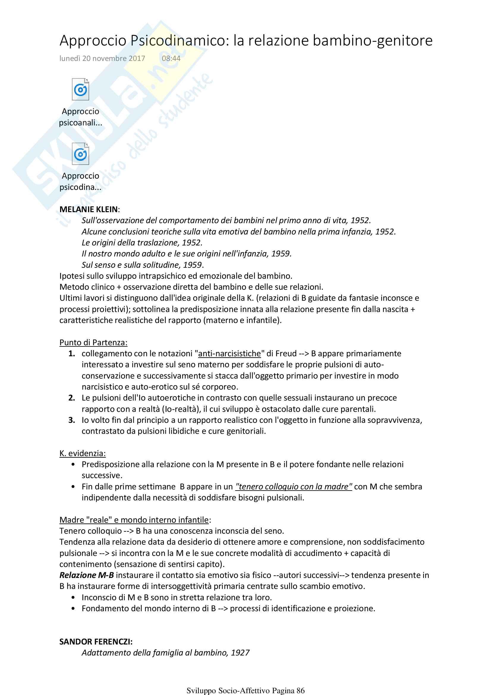 Psicologia Sviluppo Socio Affettivo Pag. 86
