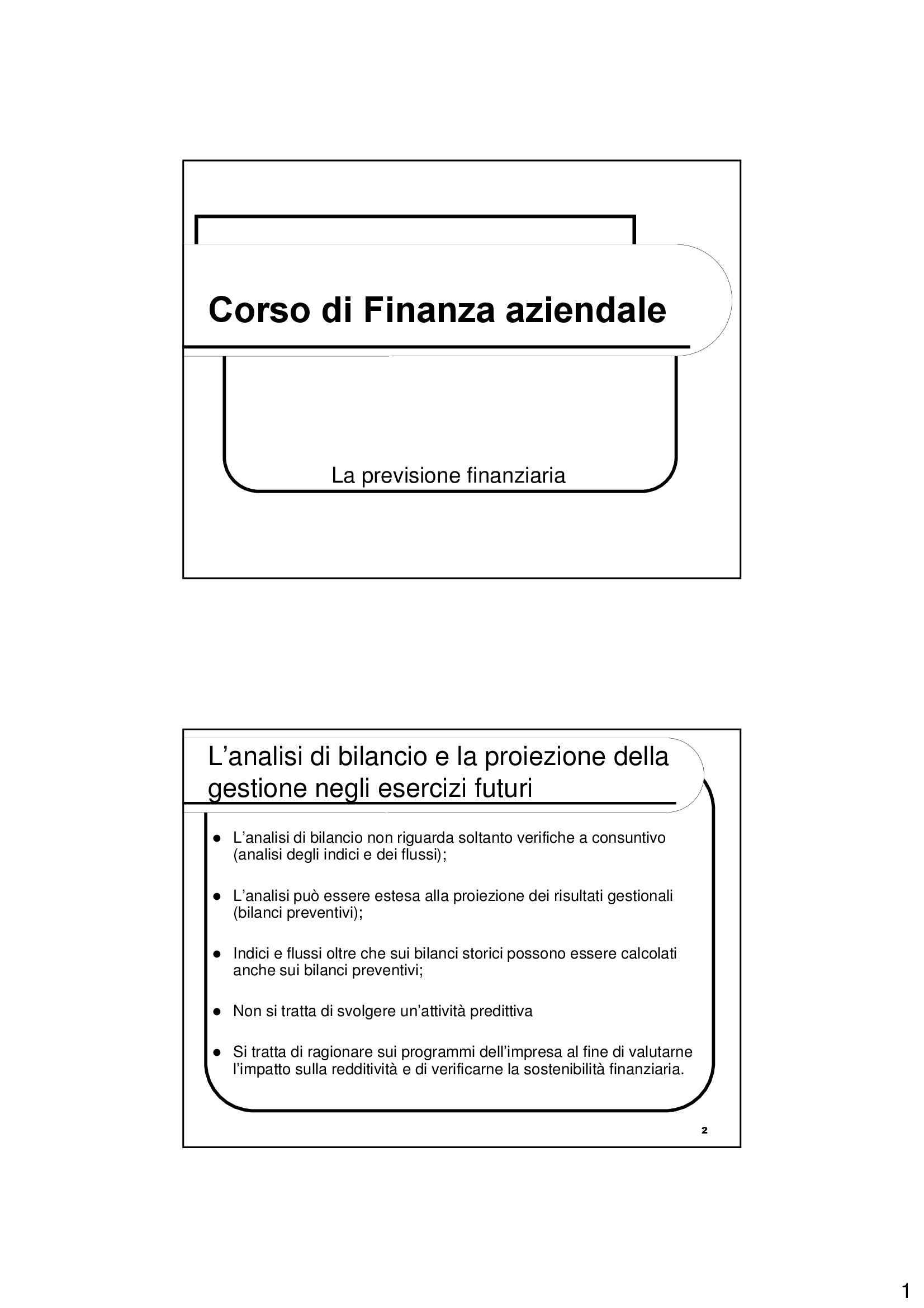 Previsione finanziaria