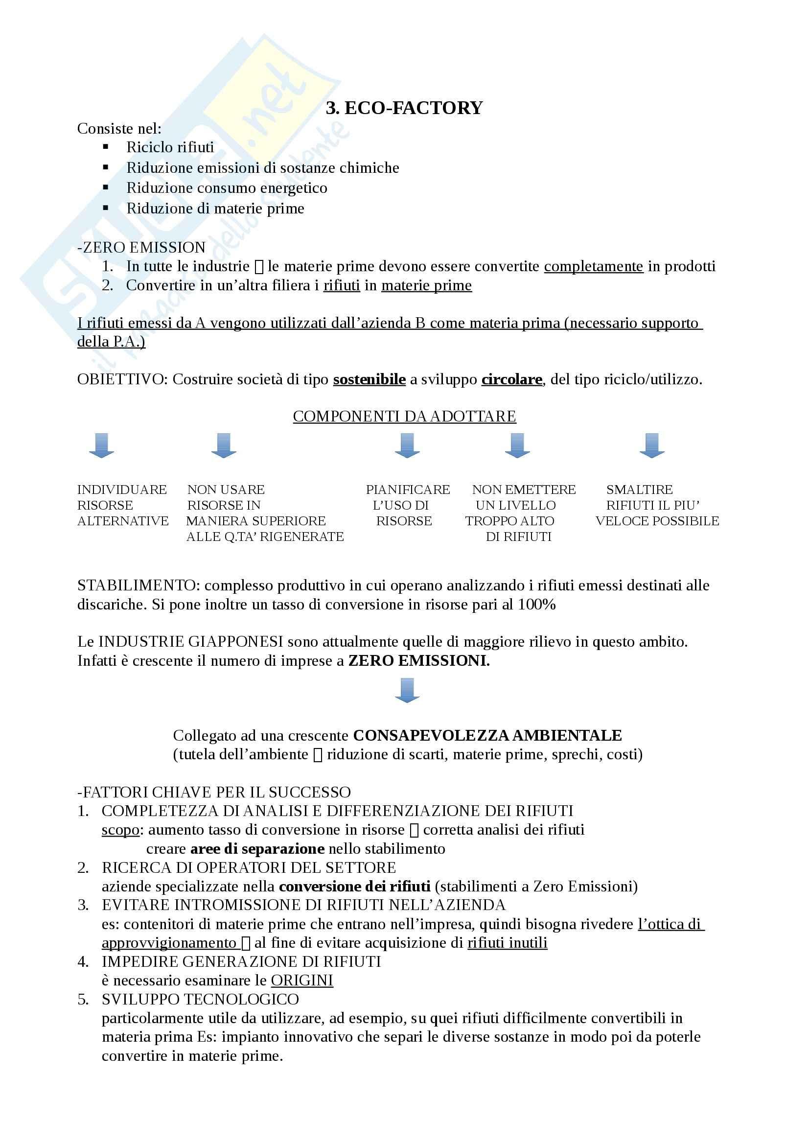 Eco-Eco managementv - Riassunto esame, prof. Cerruti