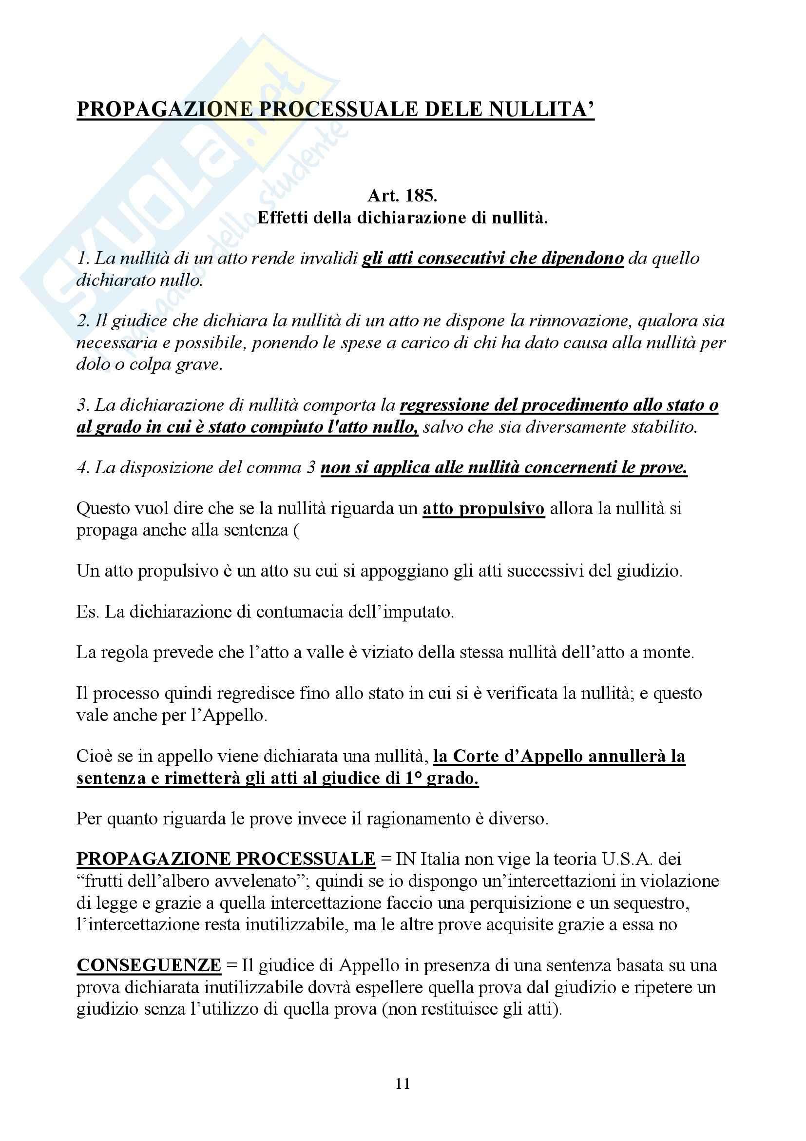 Diritto processuale penale II - Appunti Pag. 11
