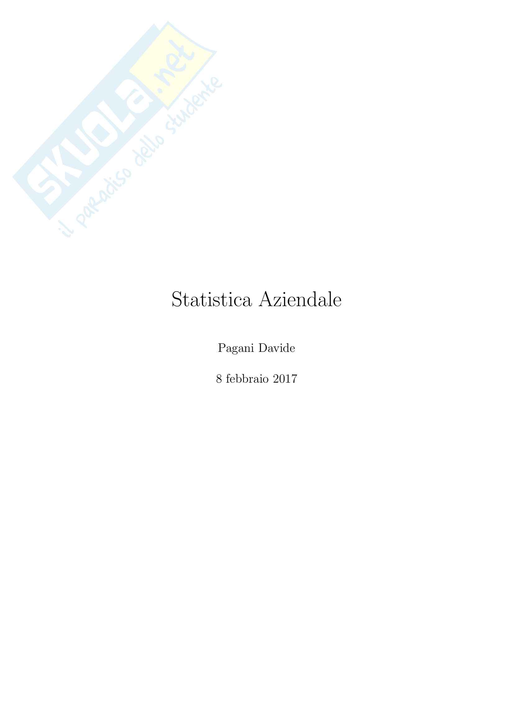 Statistica Aziendale M