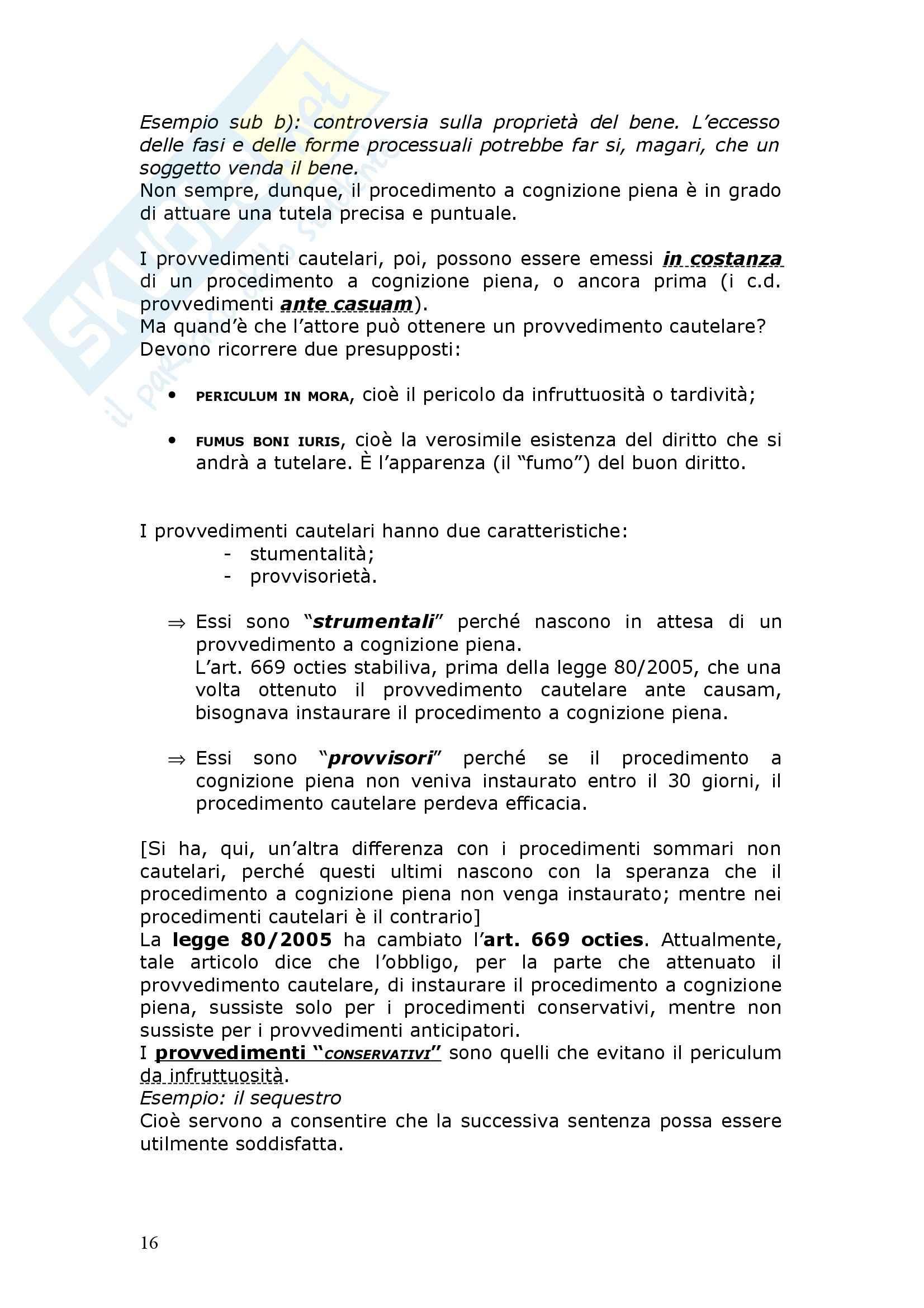 Diritto Processuale Civile - procedimenti speciali - Appunti Pag. 16