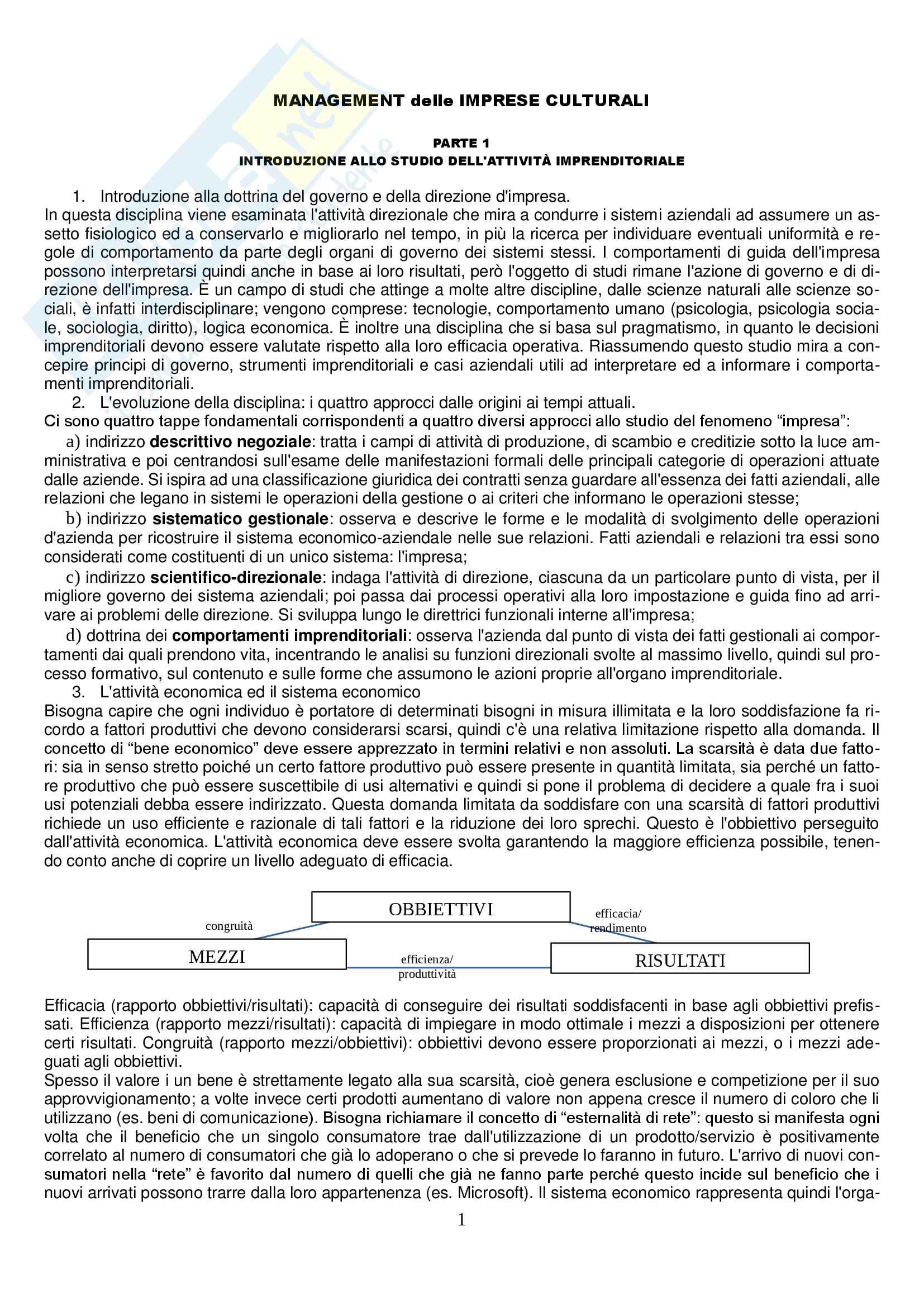 Riassunti esame Management delle Imprese Culturali, prof. Claudio Becagli, libro consigliato Hesmonhalgh D. [2008], Le industrie culturali, Egea, Milano. (Limitatamente alle pagine 1-27; 55-84; 175-208; 267-300)