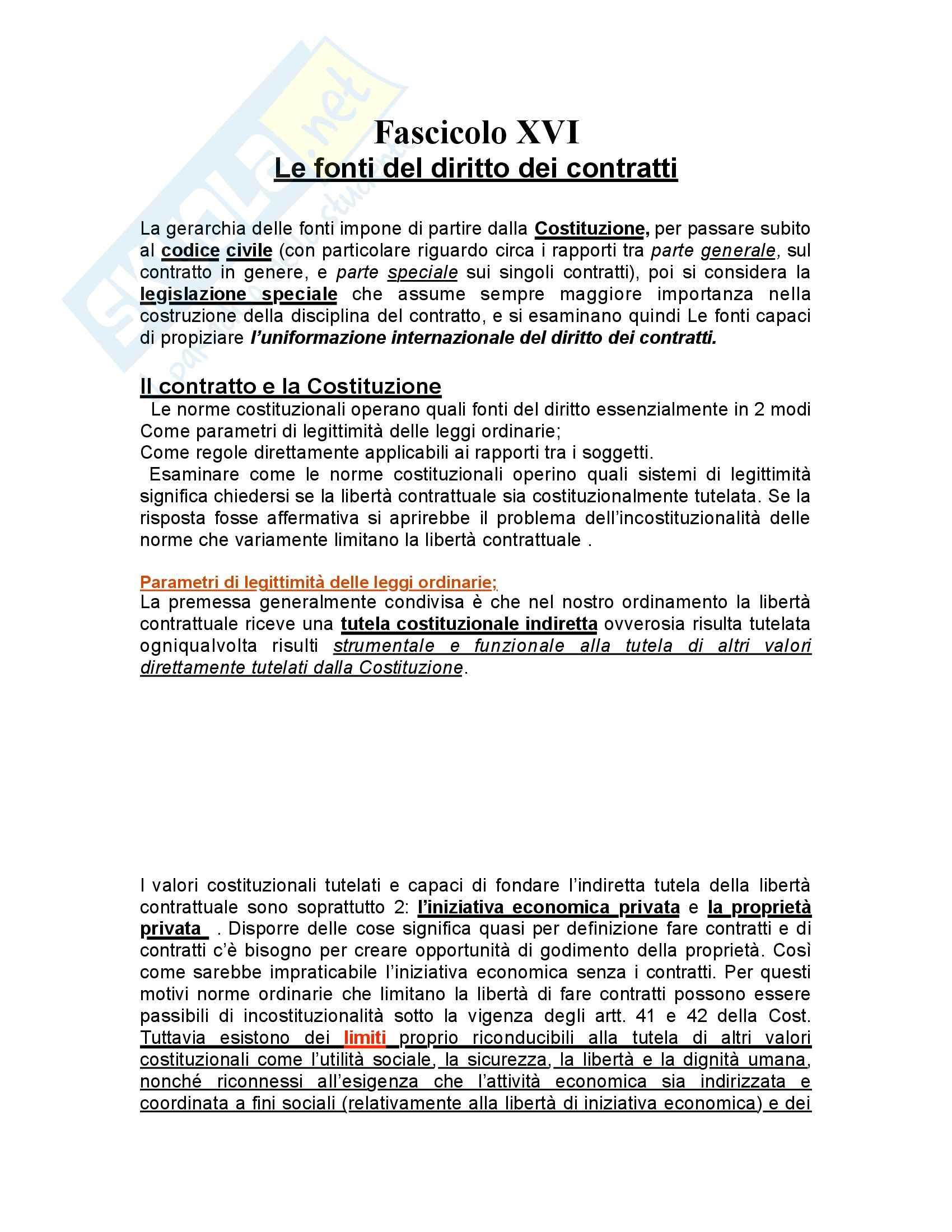 Diritto civile - contratti - Appunti