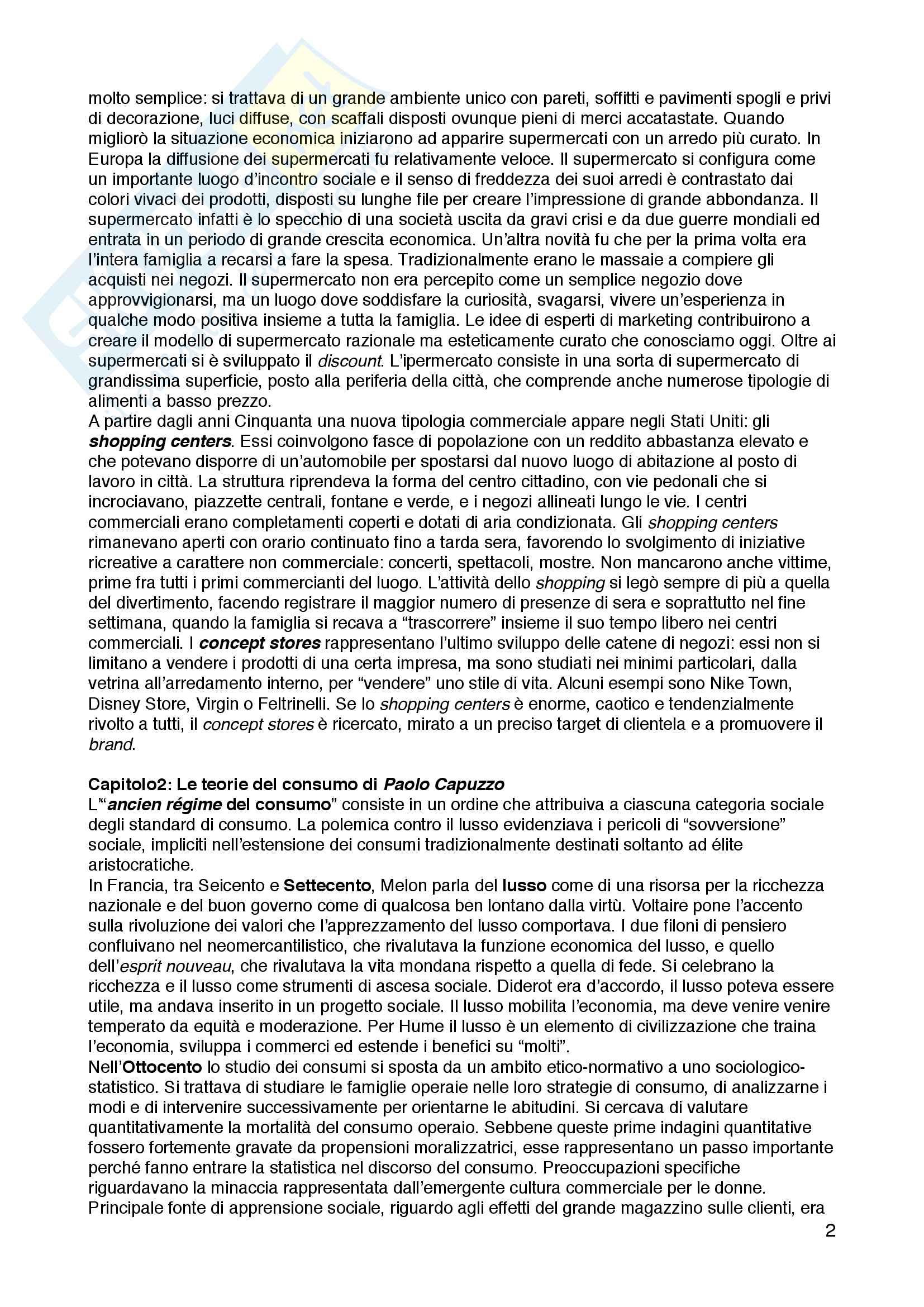 """Riassunto esame Storia culturale e sociale dell'età contemporanea, prof.ssa Luisa Tasca, libro consigliato """"Il secolo dei consumi. Dinamiche sociali nell'Europa del Novecento"""", Cavazza, Scarpellini Pag. 2"""