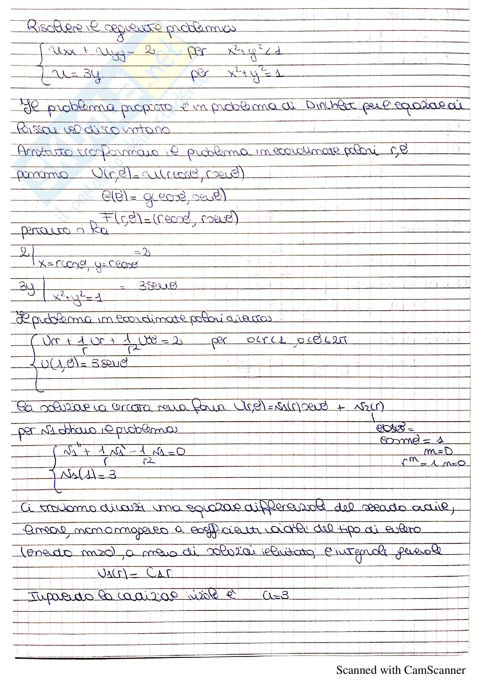 Equazioni differenziali alle derivate parziali - Analisi Matematica 2 Pag. 16