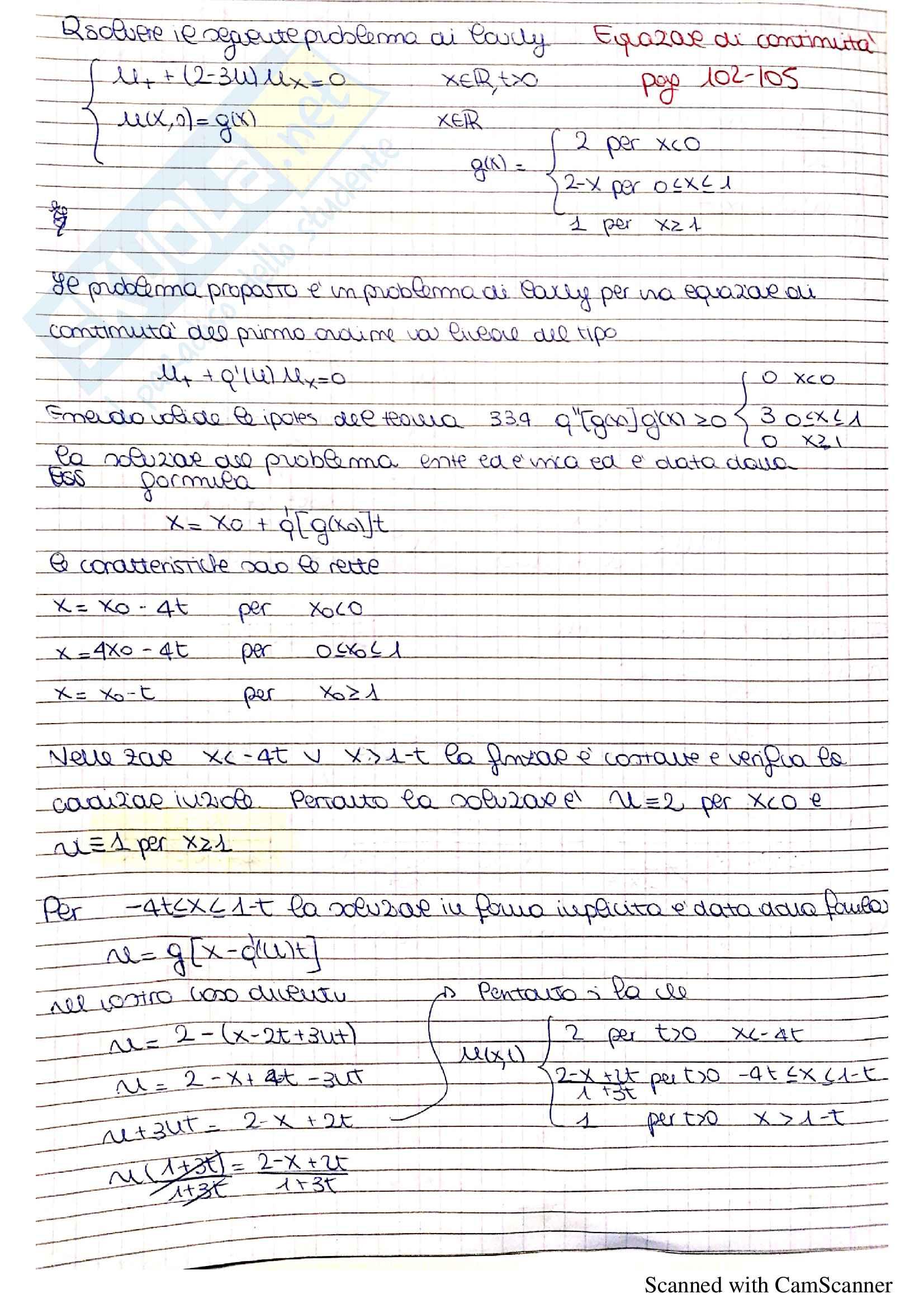 Equazioni differenziali alle derivate parziali - Analisi Matematica 2 Pag. 6